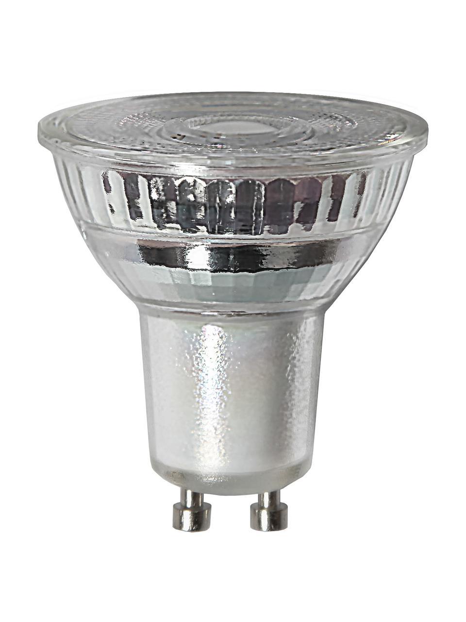GU10 Leuchtmittel, 4.5W, dimmbar, warmweiß, 3 Stück, Leuchtmittelschirm: Glas, Leuchtmittelfassung: Aluminium, Transparent, Ø 5 x H 5 cm