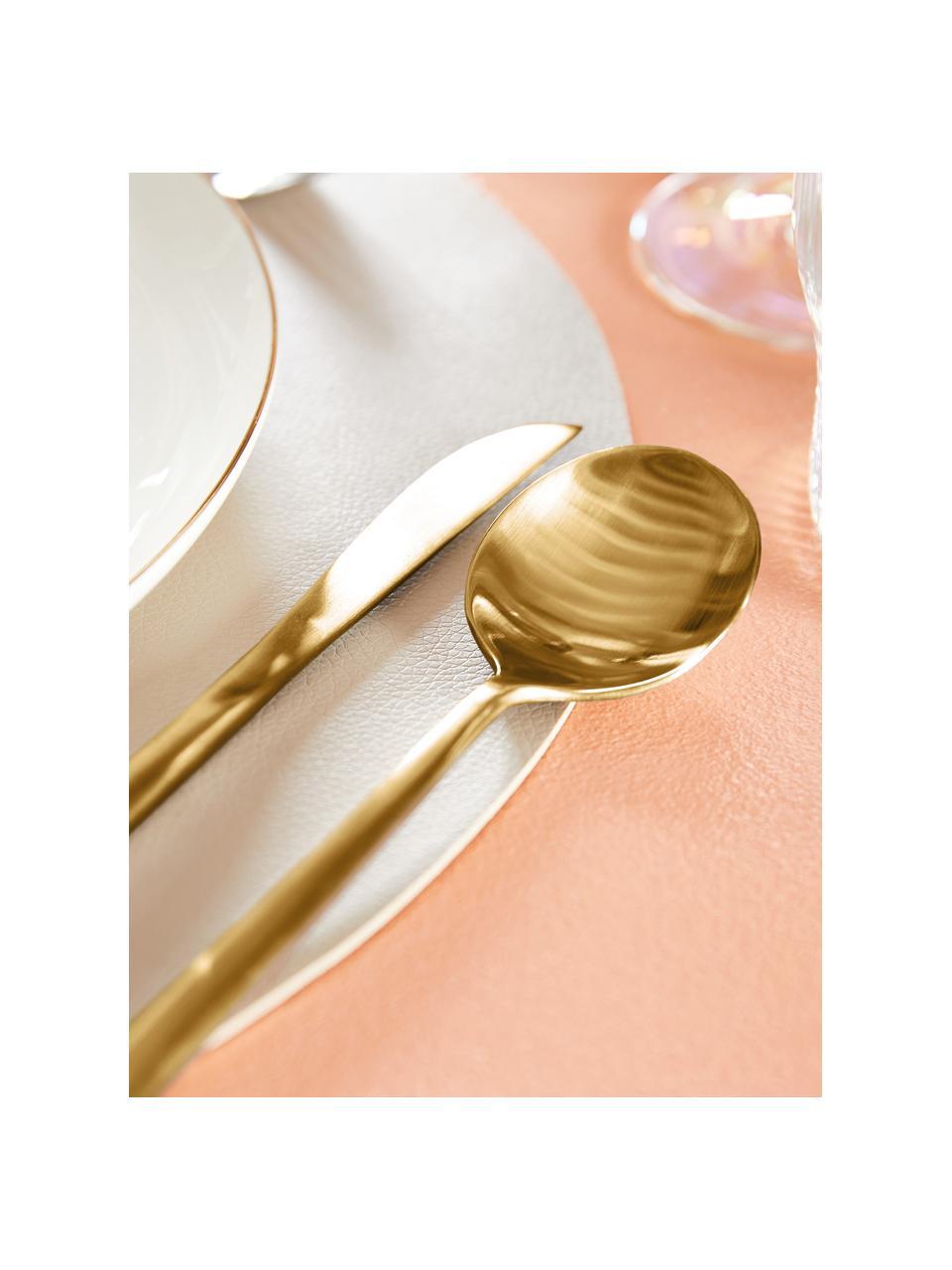 Goudkleurige bestekset Shimmer van edelstaal, in verschillende setgroottes, Goudkleurig, 4 personen (20-delig)