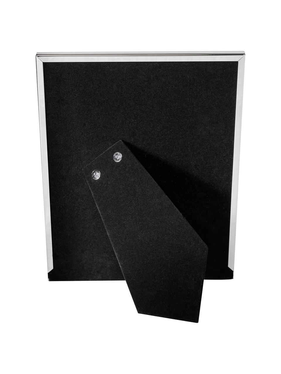 Bilderrahmen Memento, Rahmen: Metall, vernickelt, Front: Glas, spiegelnd, Rückseite: Holz, Samt, Silber, 20 x 24 cm