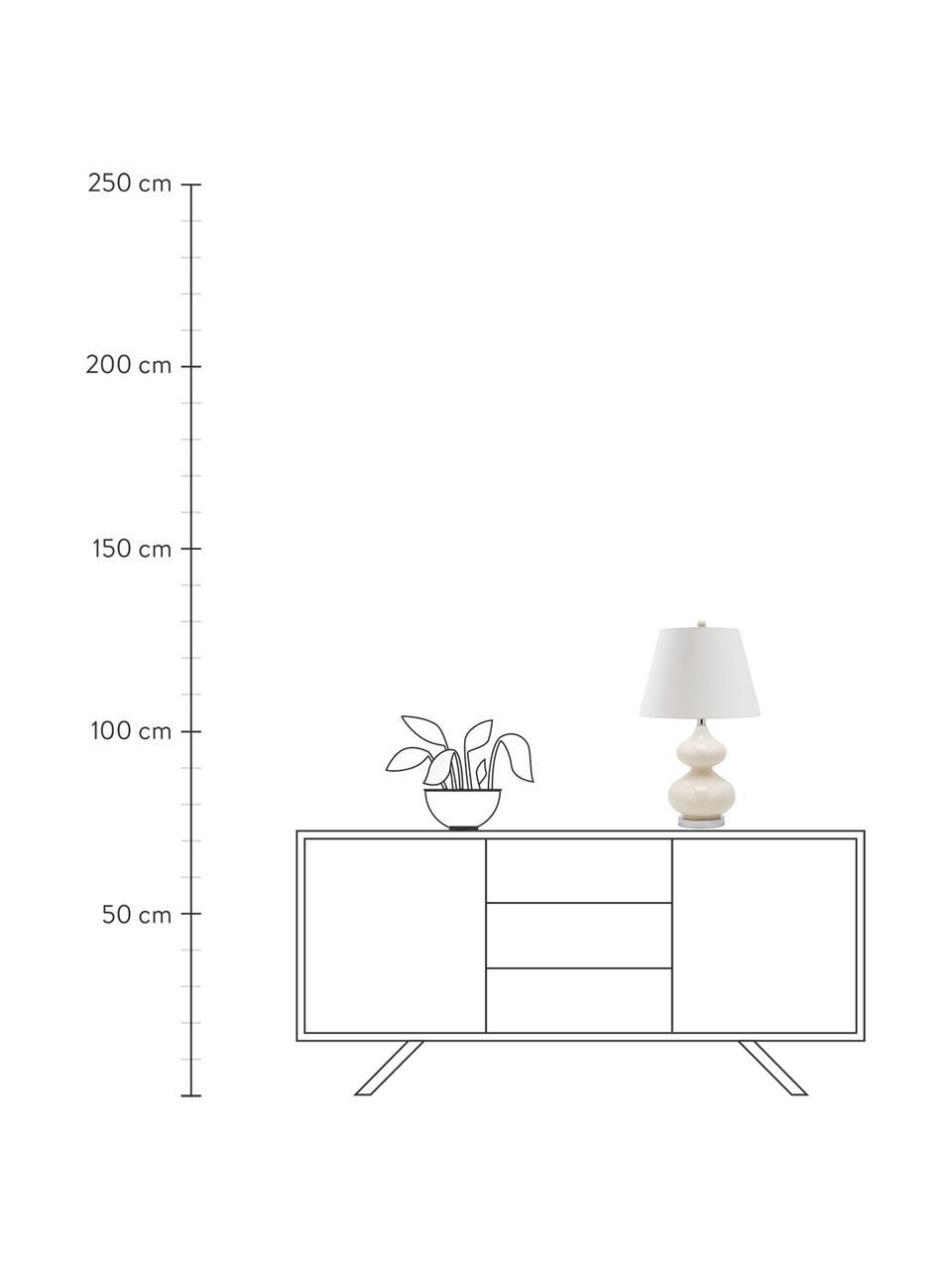 Lampa stołowa Felicitas, 2 szt., Biały, Ø 35 x W 58 cm