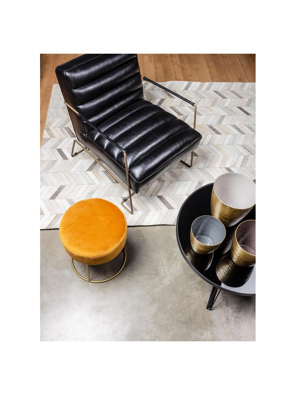 Fotel ze sztucznej skóry Brianna, Tapicerka: sztuczna skóra, Nogi: metal epoksydowany, Czarny, S 63 x G 74 cm