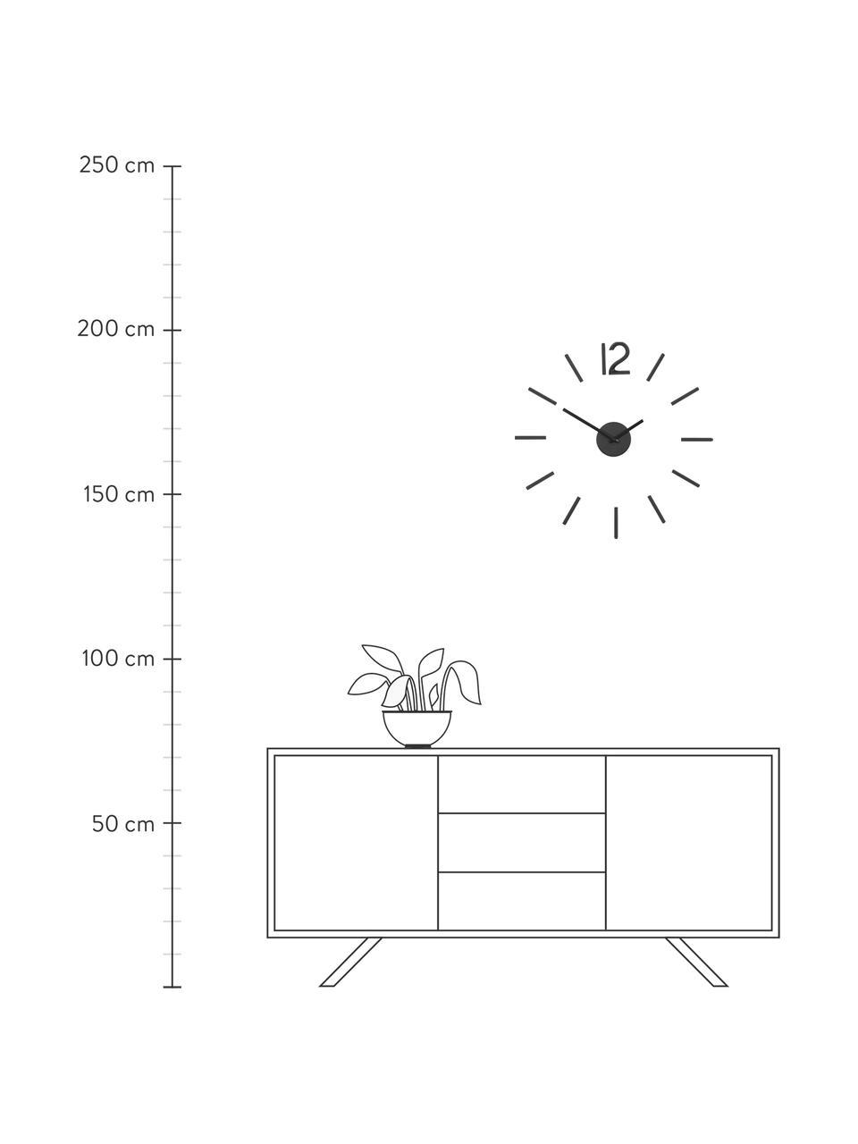 Wanduhr-Bausatz Blink, Aluminium, lackiert, Schwarz, Ø 60 cm