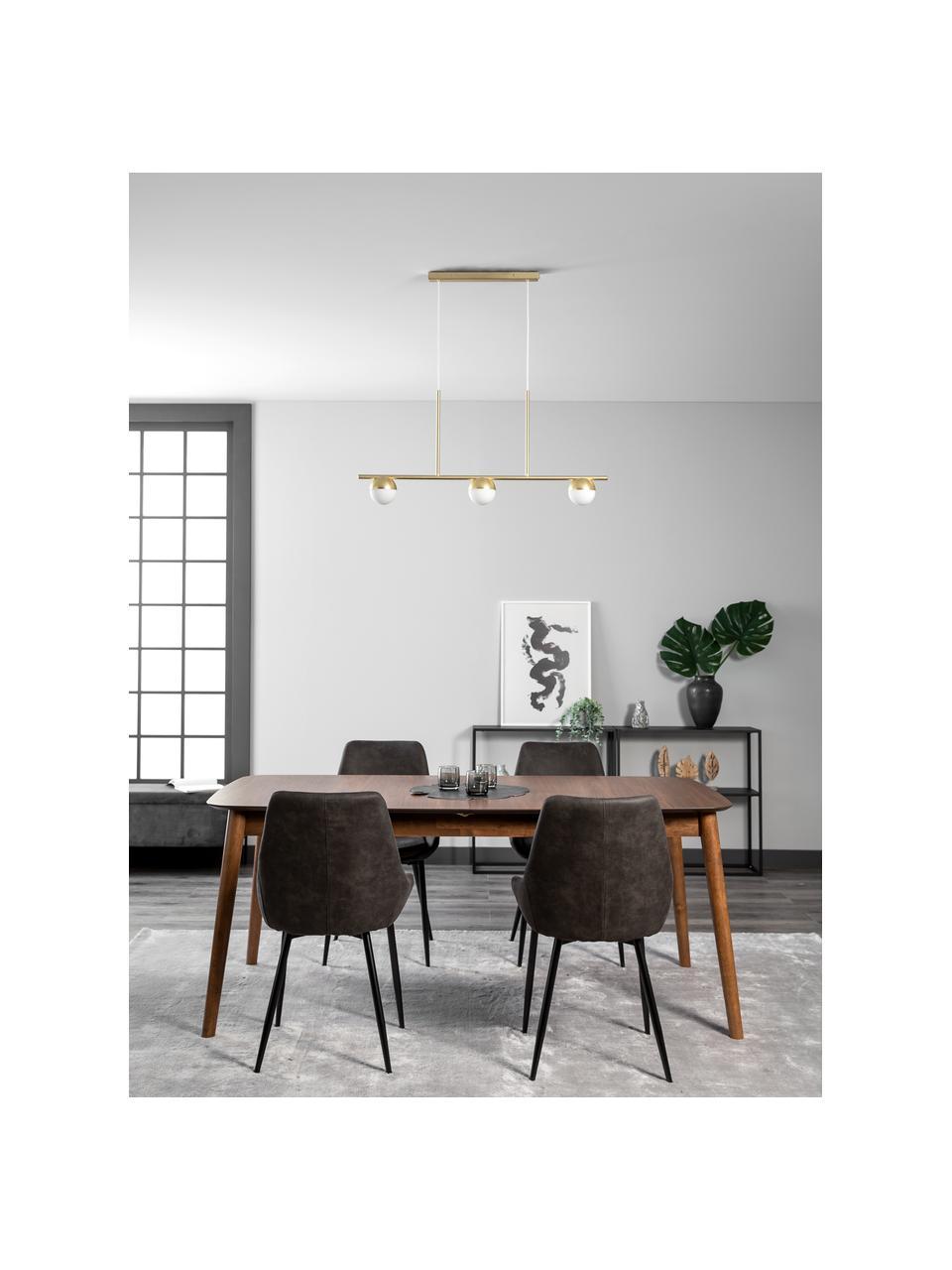 Lampa wisząca ze szkła opalowego Contina, Biały, odcienie mosiądzu, S 90 x W 42 cm