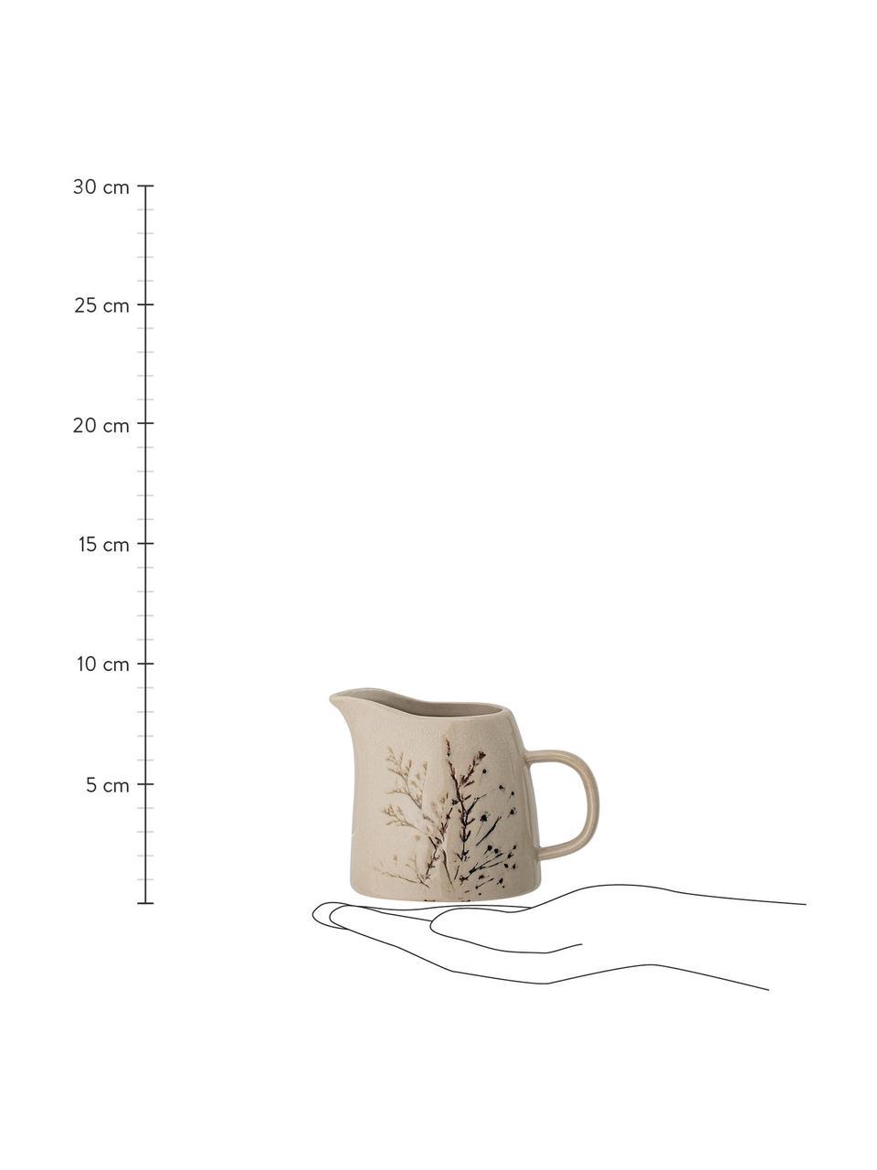 Pot à lait rustique en grès Bea, Beige