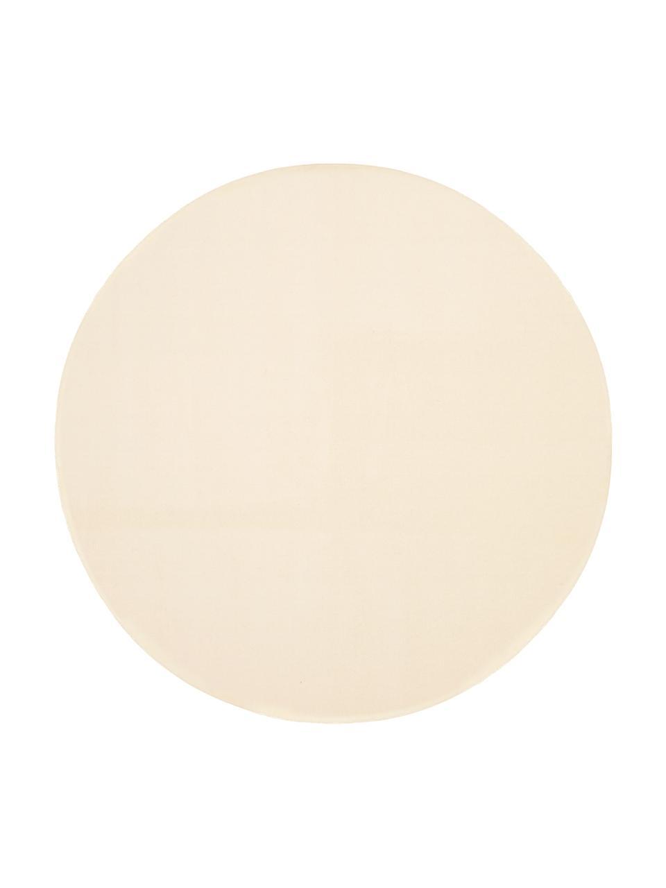 Tappeto rotondo in lana beige Ida, Retro: 60% juta, 40% poliestere , Beige, Ø 200 cm (taglia L)