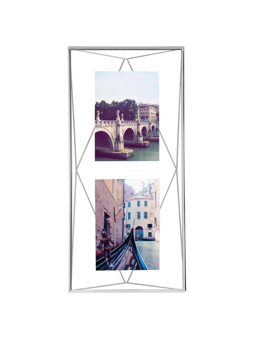 Bilderrahmen Prisma, Rahmen: Stahl, verchromt, Front: Glas, Chrom, 13 x 18 cm