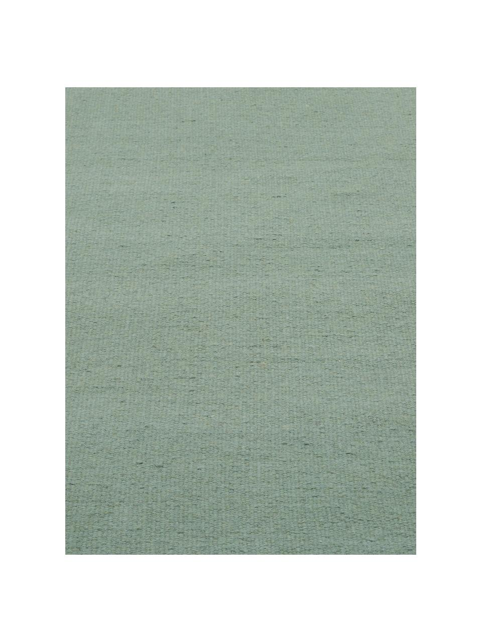 Ręcznie tkany dywan kilim z frędzlami Rainbow, Pistacjowy, S 140 x D 200 cm (Rozmiar S)