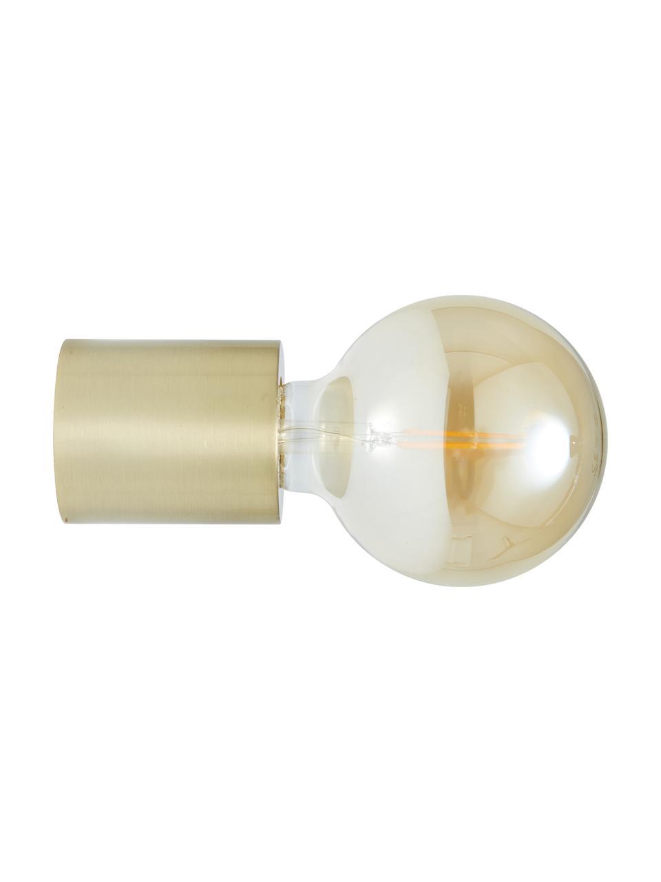 Lampada da parete e soffito dorata Chanty, Lampada: metallo ottonato, Ottone spazzolato, Ø 6 cm