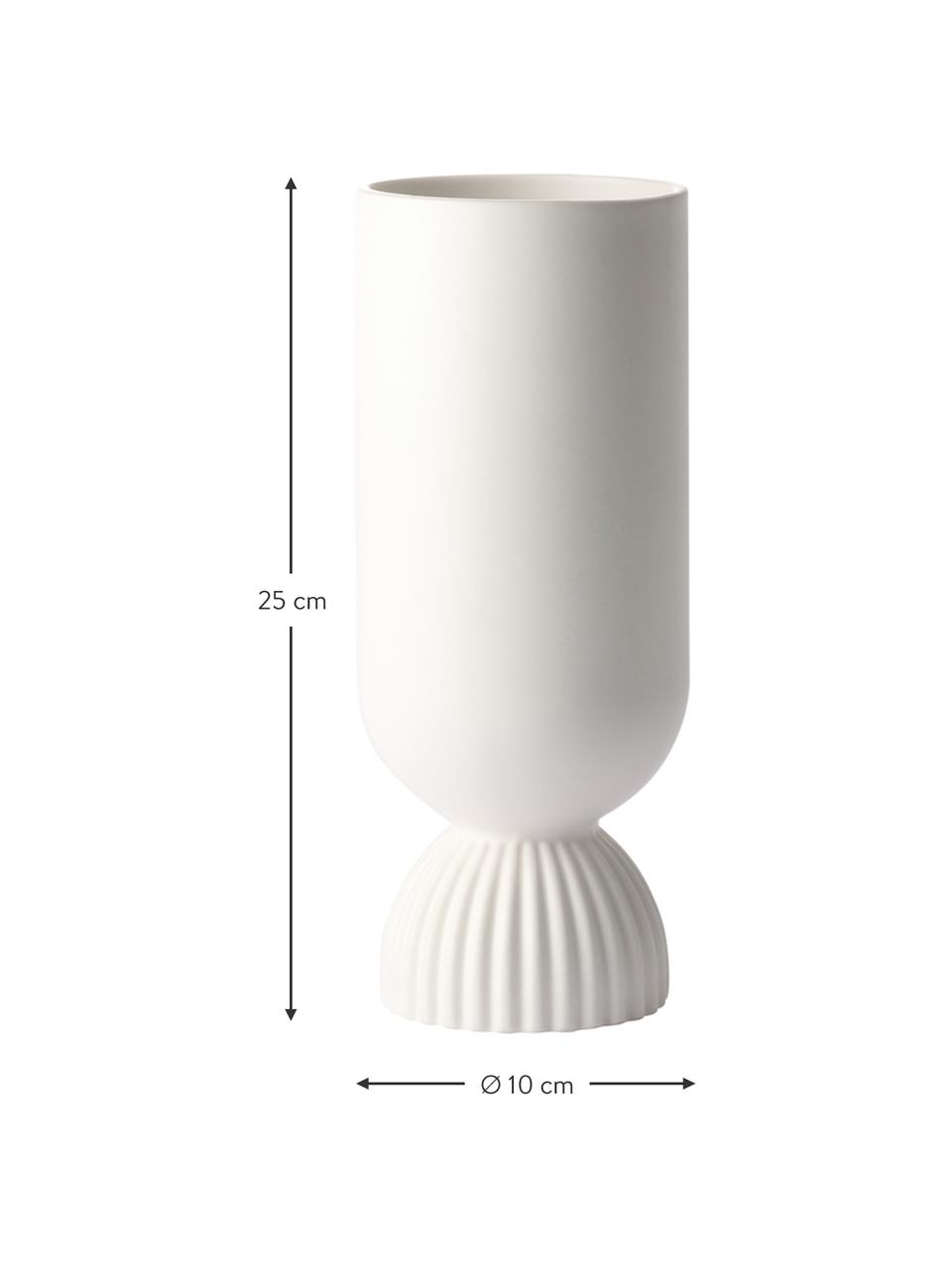 Váza Flower, Matná bílá