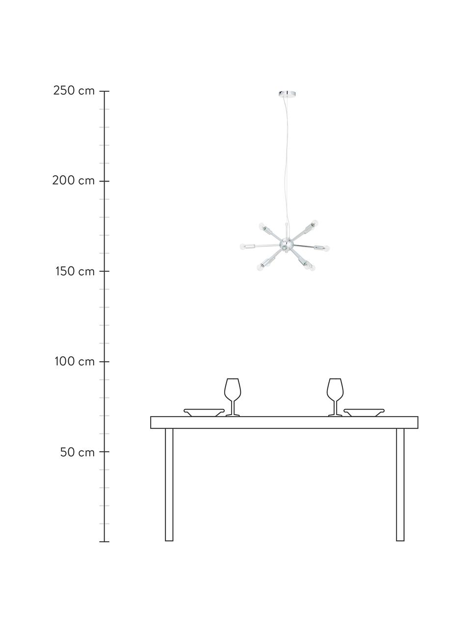 Lampada a sospensione  in cromo Spike, Paralume: metallo cromato, Baldacchino: metallo cromato, Cromo, Ø 50 cm