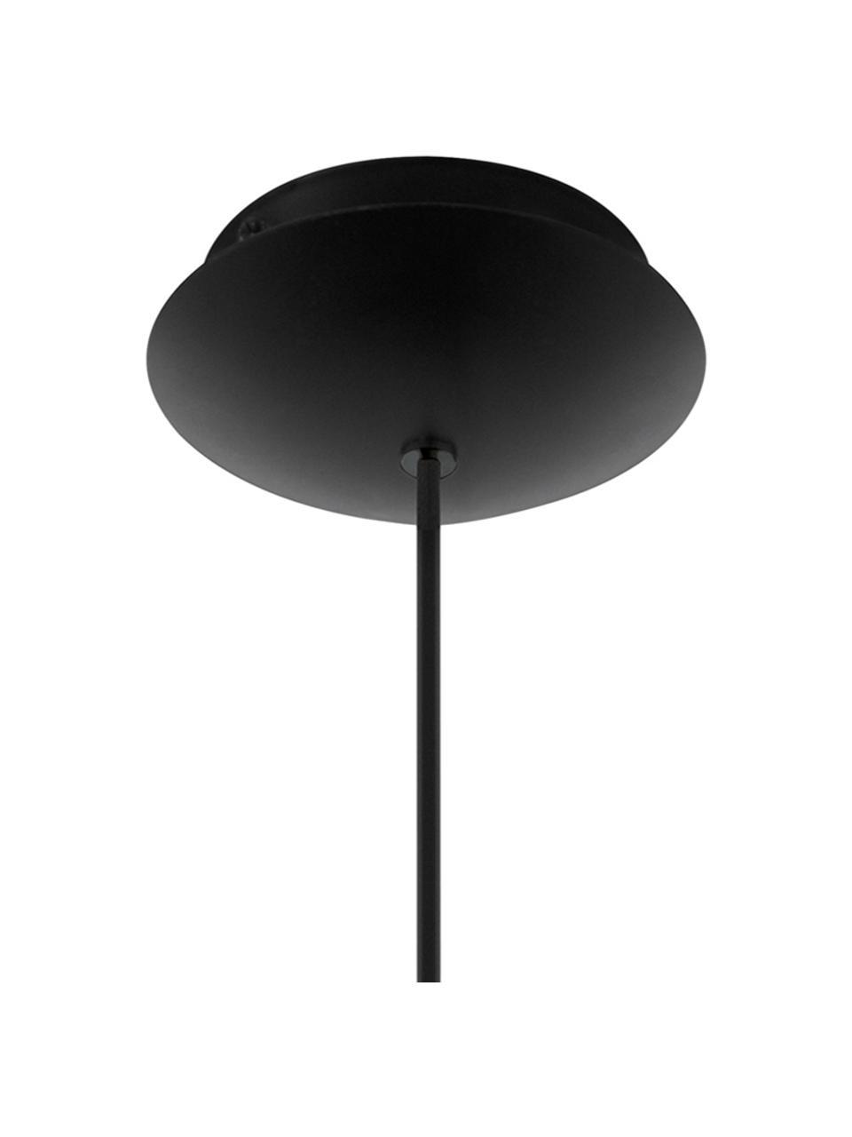 Lampada a sospensione retrò Roccamena, Paralume: acciaio verniciato, Baldacchino: acciaio verniciato, Nero, Ø 13 x Alt. 30 cm