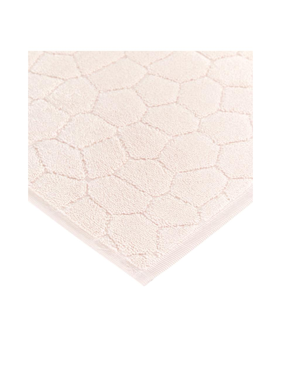 Badvorleger Stone, 100% Baumwolle, Hellrosa, 50 x 70 cm
