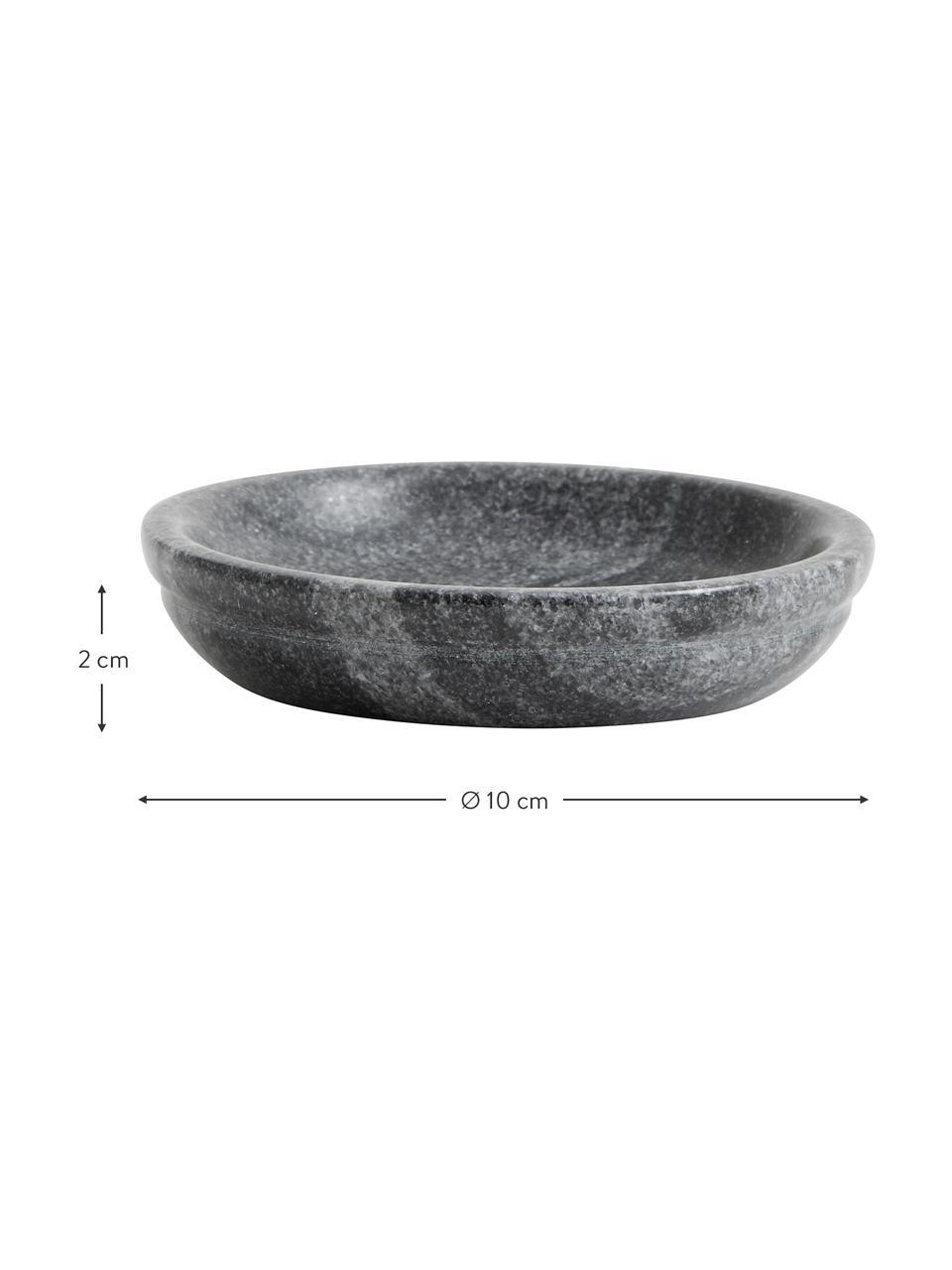 Deko-Schale Aggaz, Marmor, Grau, marmoriert, Ø 10 x H 2 cm