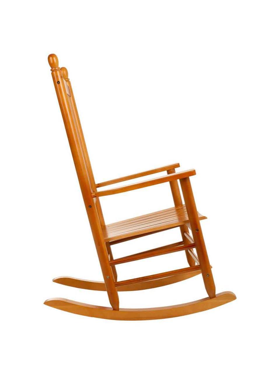 Sedia a dondolo in legno Pedro, Legno di pioppo, Marrone, Larg. 87 x Alt. 69 cm