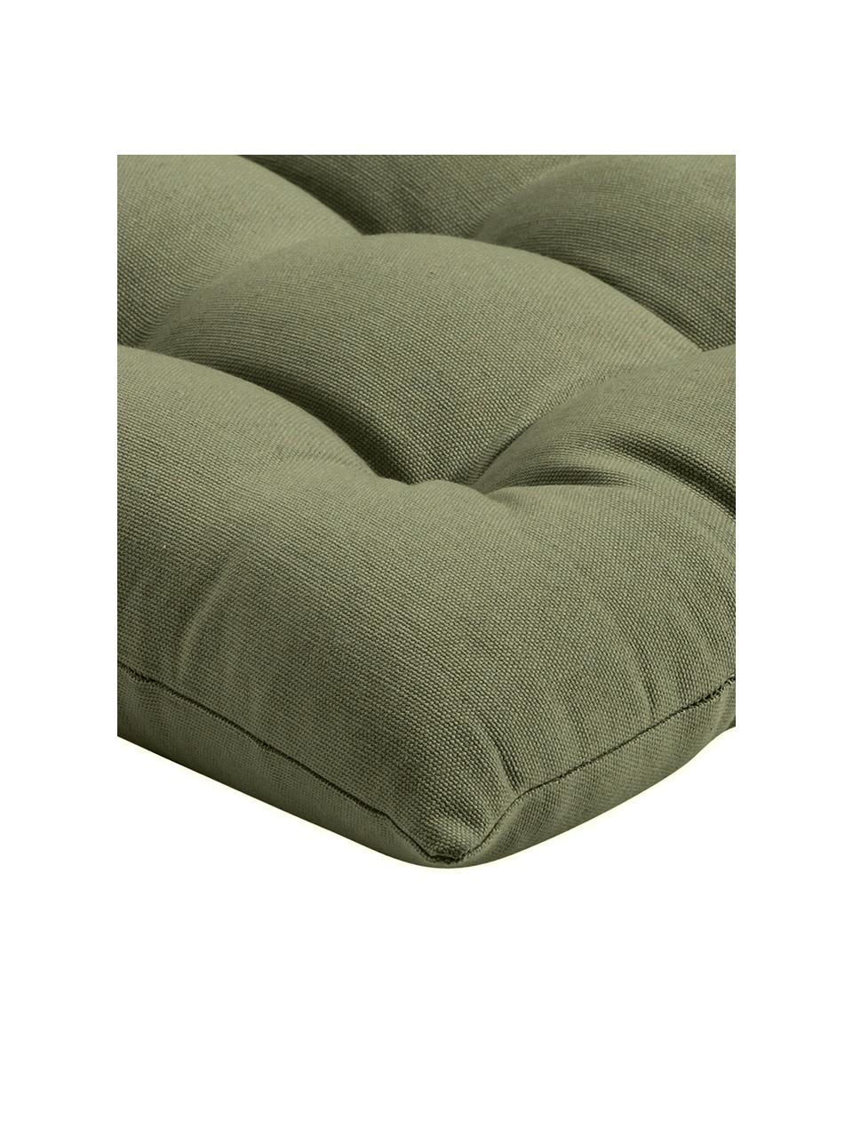 Sitzkissen Ava in Olivgrün, Bezug: 100% Baumwolle, Grün, 40 x 40 cm