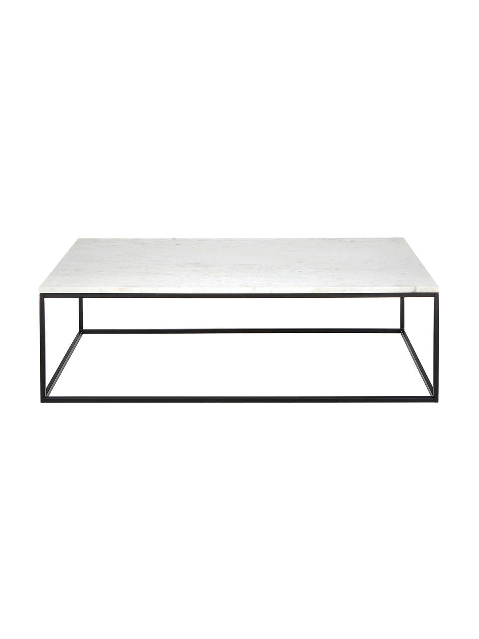 Table basse marbreAlys, Marbre blanc, noir