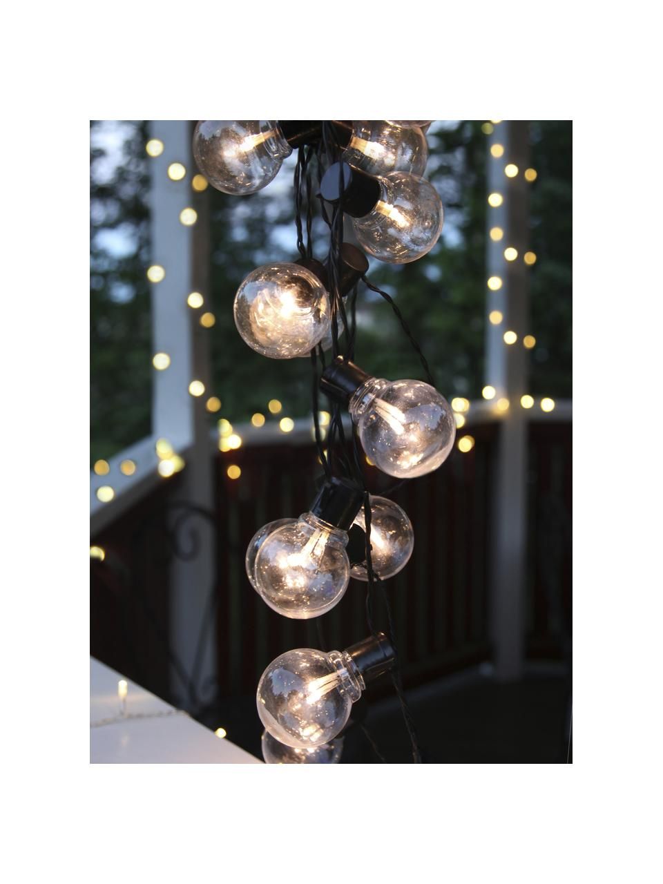 LED lichtslinger Partaj, 950 cm, 16 lampions, Lampions: kunststof, Zwart, L 500 cm