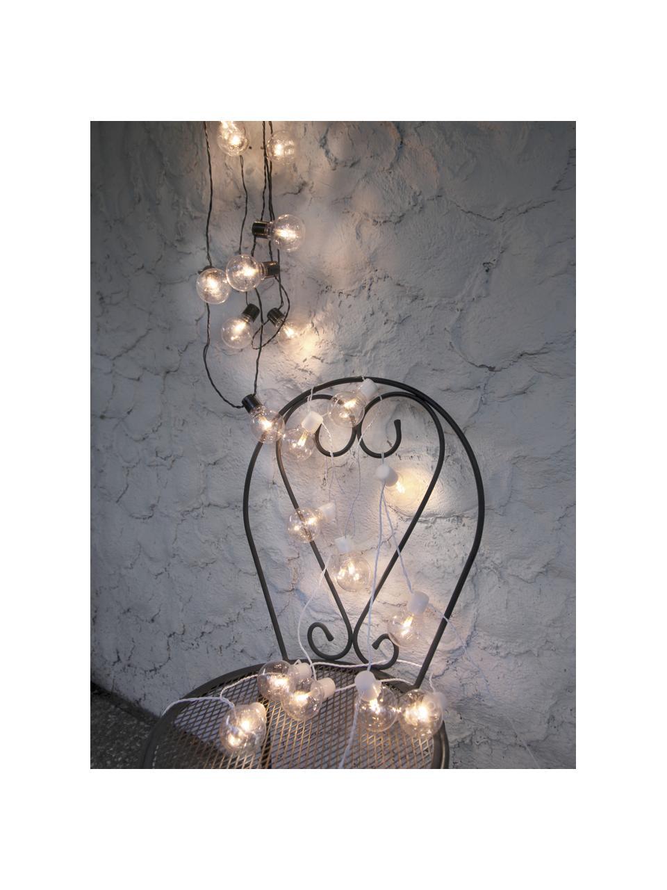 Ghirlanda a LED da esterno Partaj, 950 cm, 16 lampioni, Nero, Lung. 950 cm
