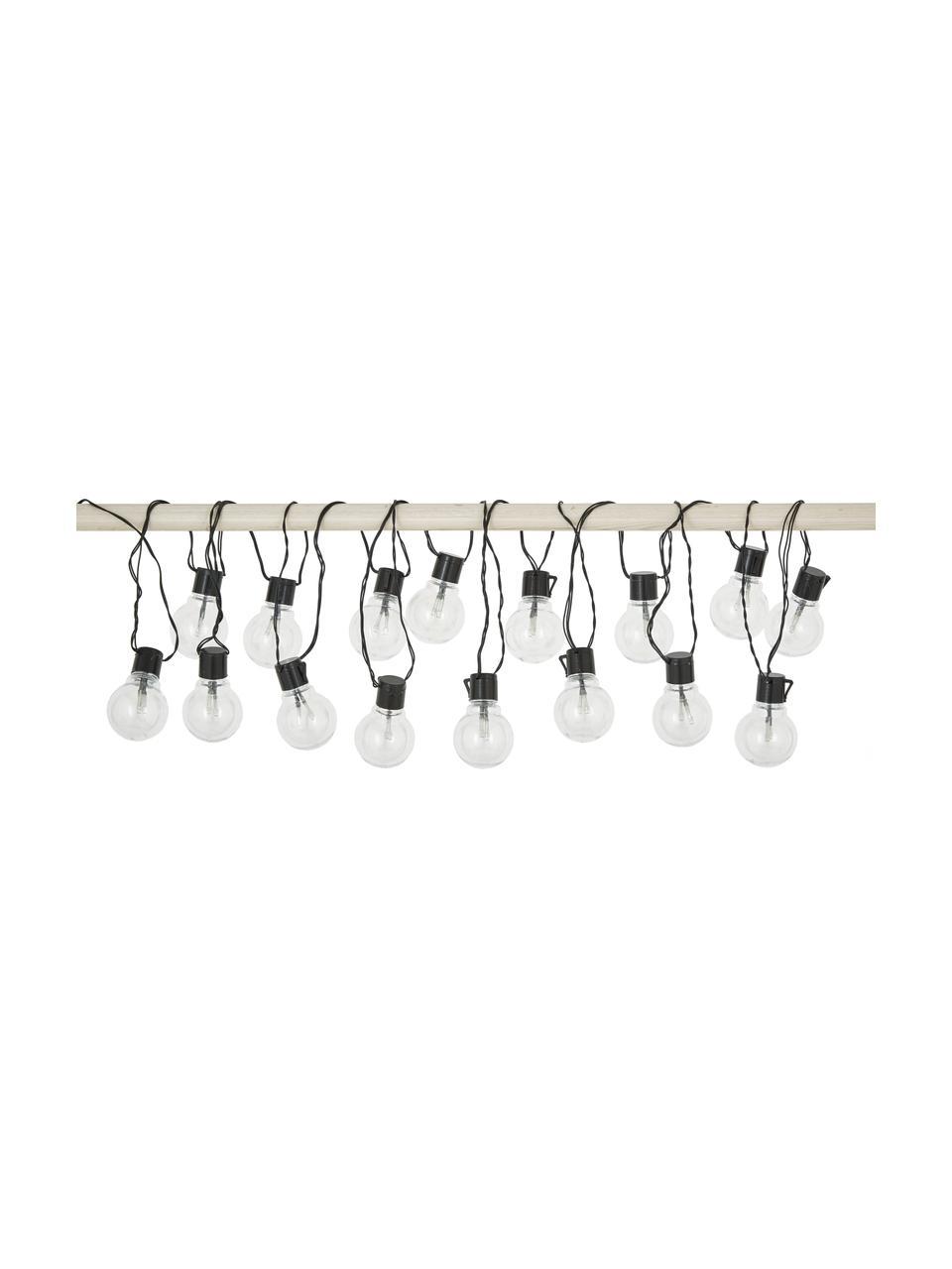 Guirlande lumineuse guinguette LED Partaj, 950cm, Noir