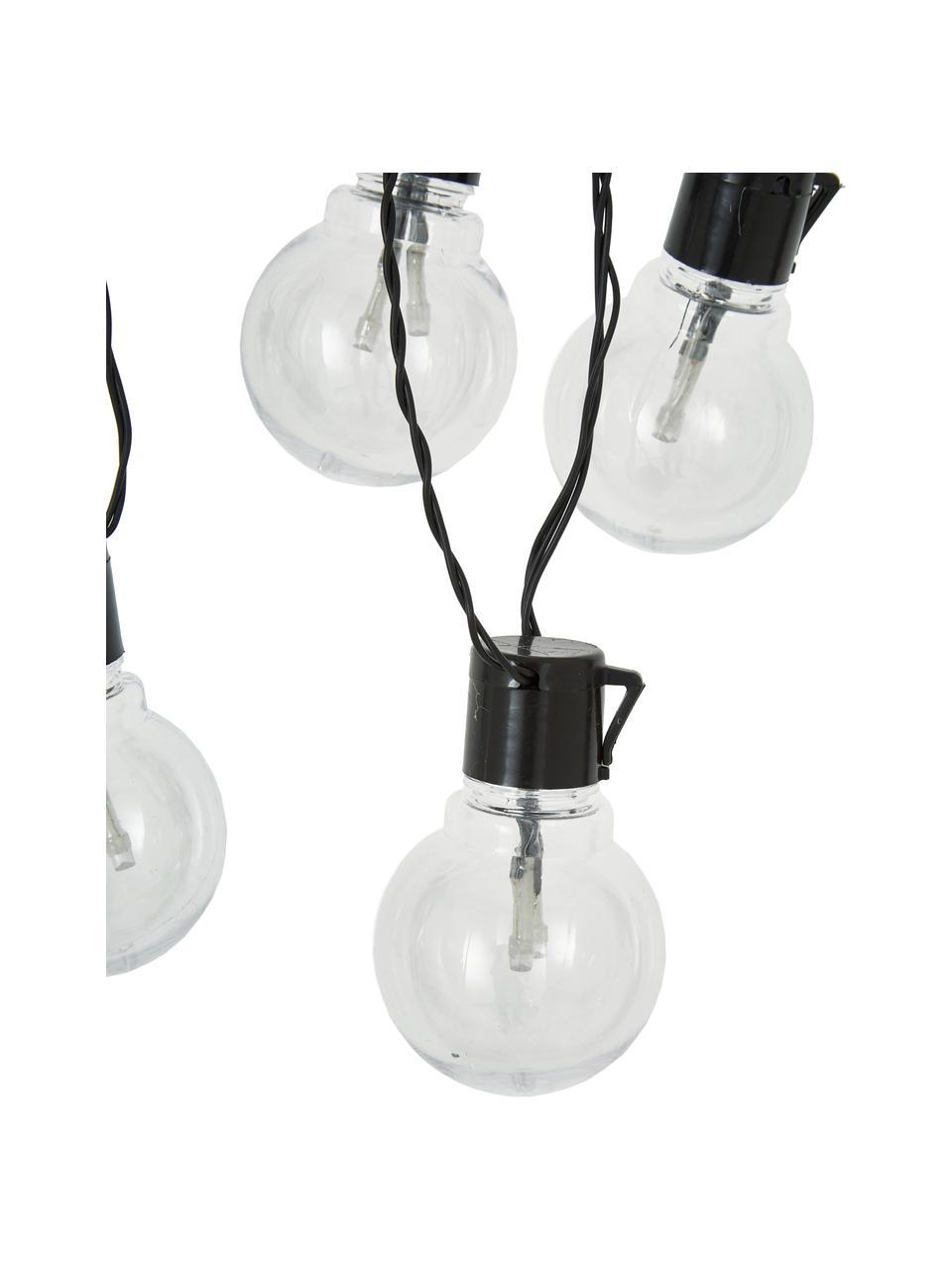 LED-Lichterkette Partaj, 950 cm, 16 Lampions, Lampions: Kunststoff, Schwarz, L 950 cm