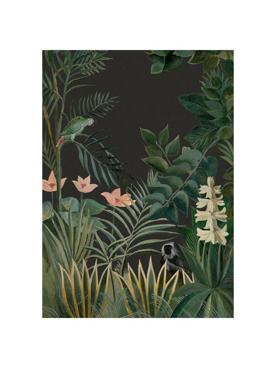 Fototapete Into the blush, Vlies, Dunkelgrün, Rosa, Hellgrün, 200 x 280 cm