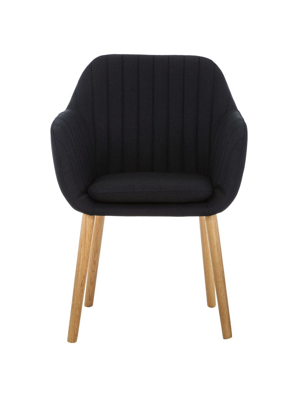 Čalouněná židle spodručkami Emilia, Antracitová