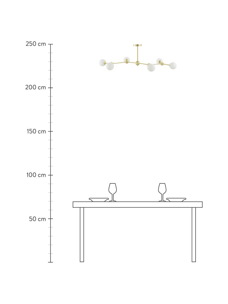 Lampa sufitowa Aurelia, Biały, mosiądz, Ø 110 x W 32 cm