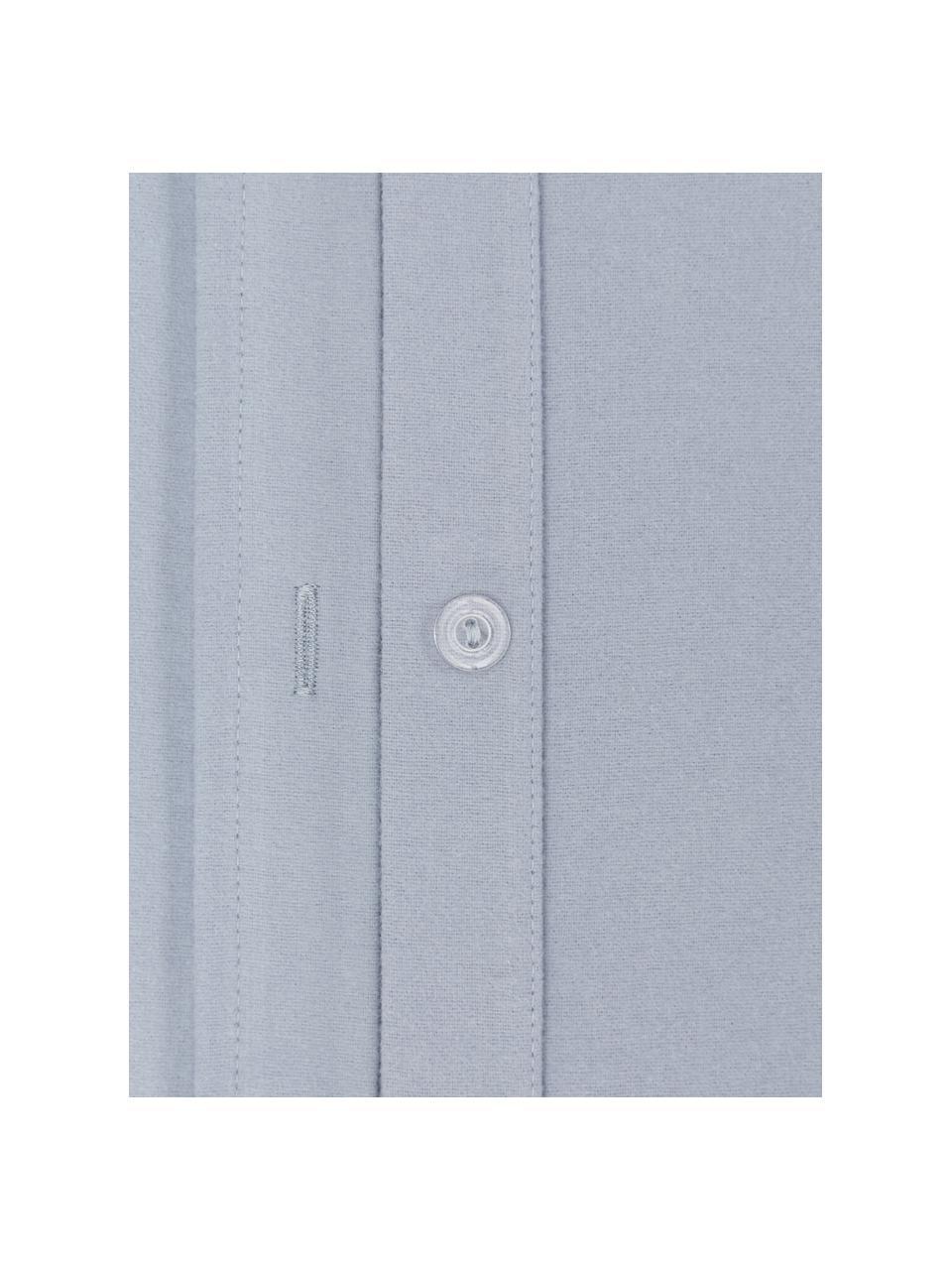 Flanell-Bettwäsche Biba in Blau, Webart: Flanell Flanell ist ein k, Blau, 135 x 200 cm + 1 Kissen 80 x 80 cm