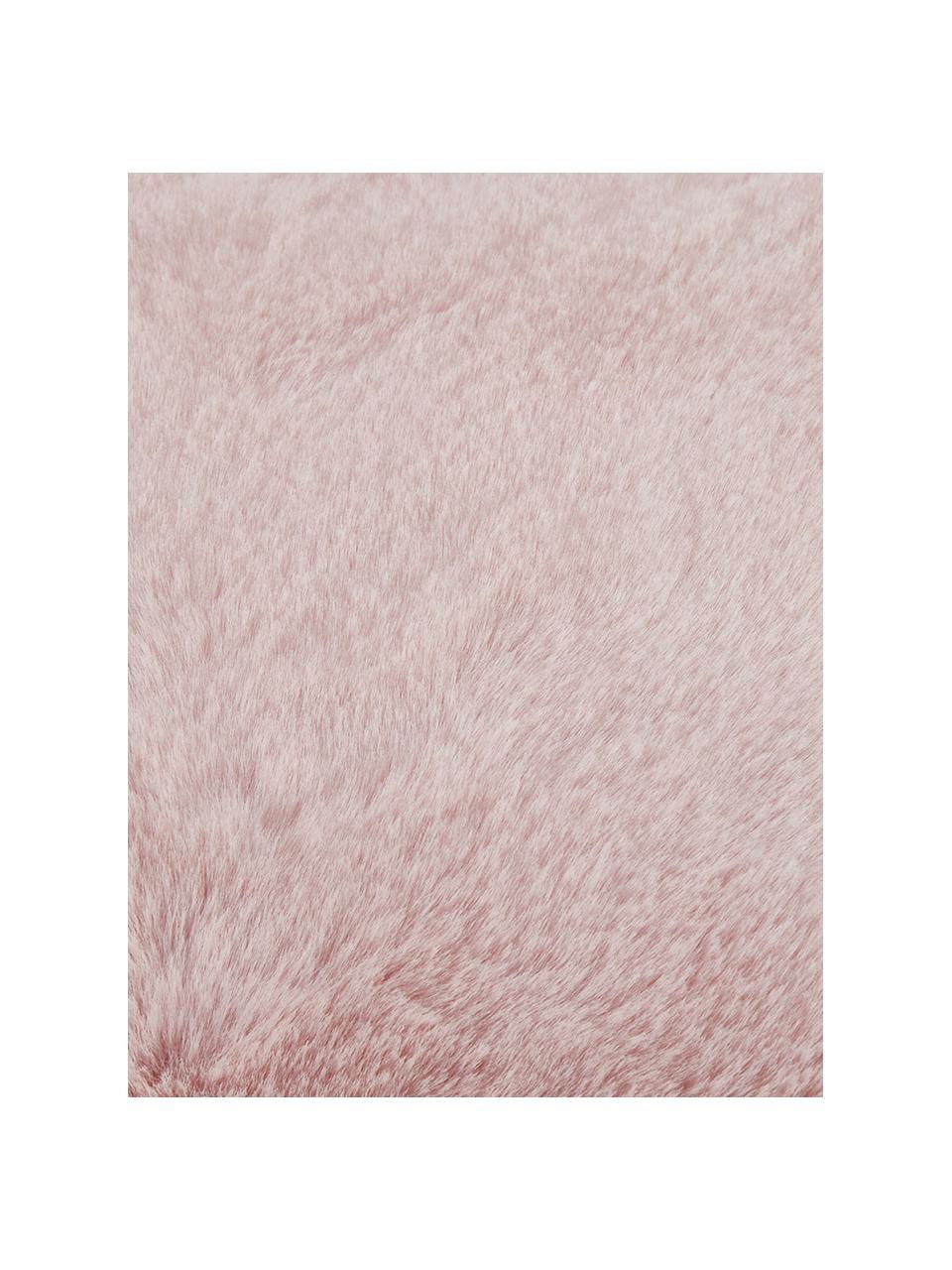 Kuscheldecke Mette aus Kunstfell in Rosa, Vorderseite: 100% Polyester, Rückseite: 100% Polyester, Rosa, 150 x 200 cm