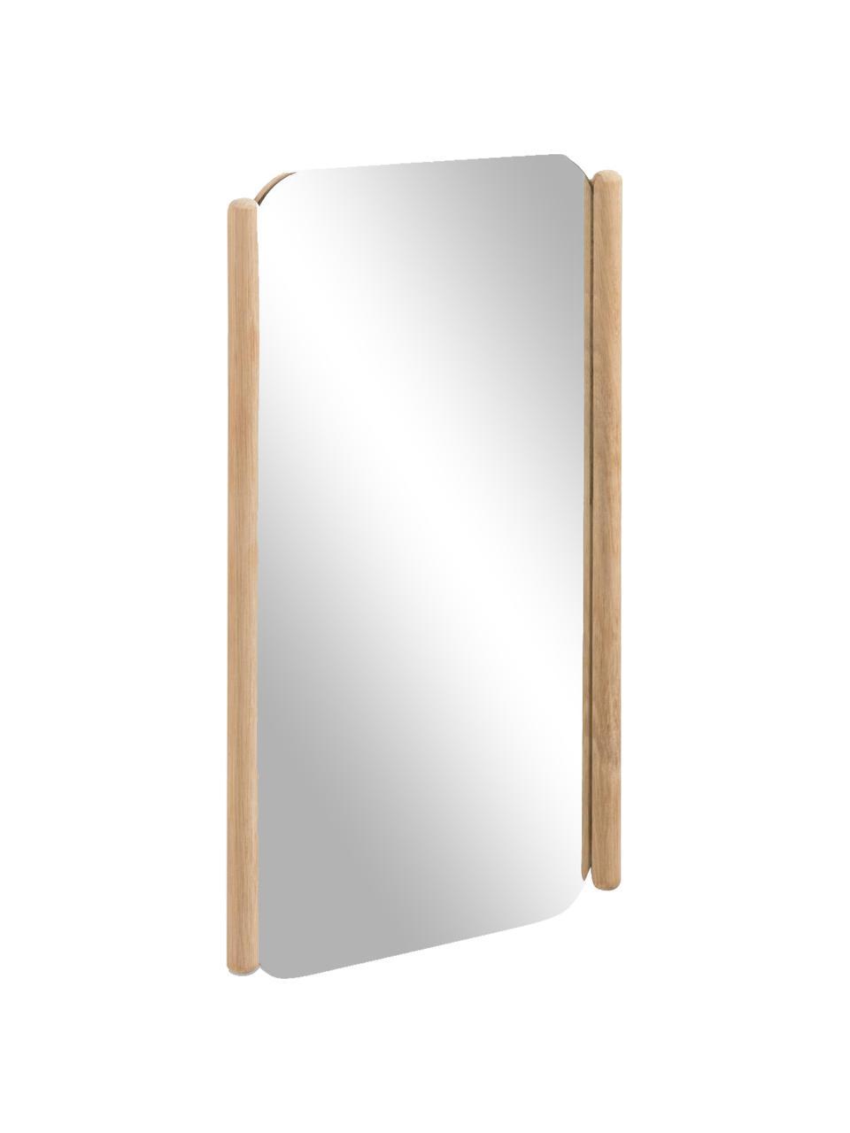 Wandspiegel Natane met houten lijst, Frame: MDF, Bruin, 34 x 54 cm