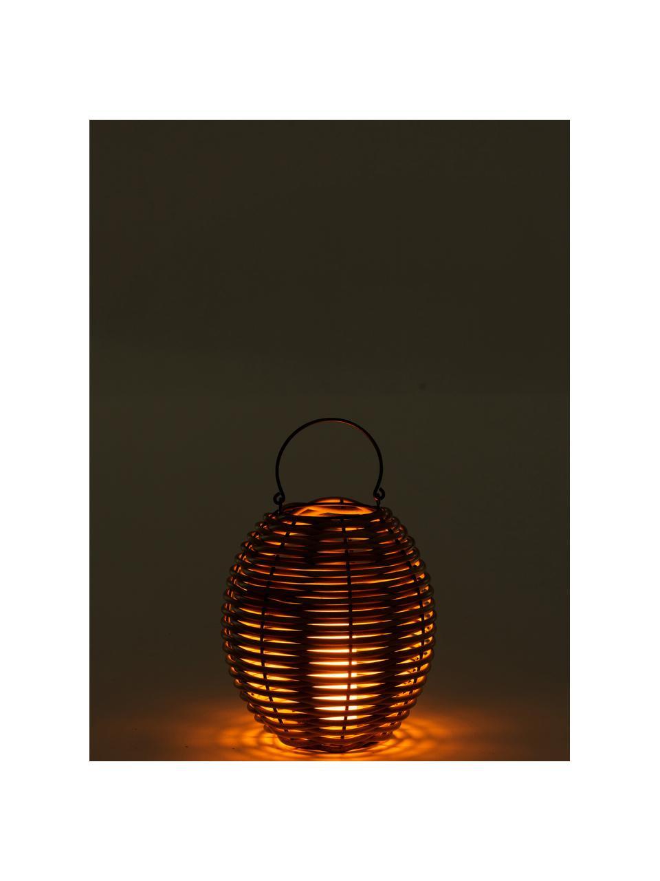 Lampáš s LED sviečkou Wovo, Hnedá