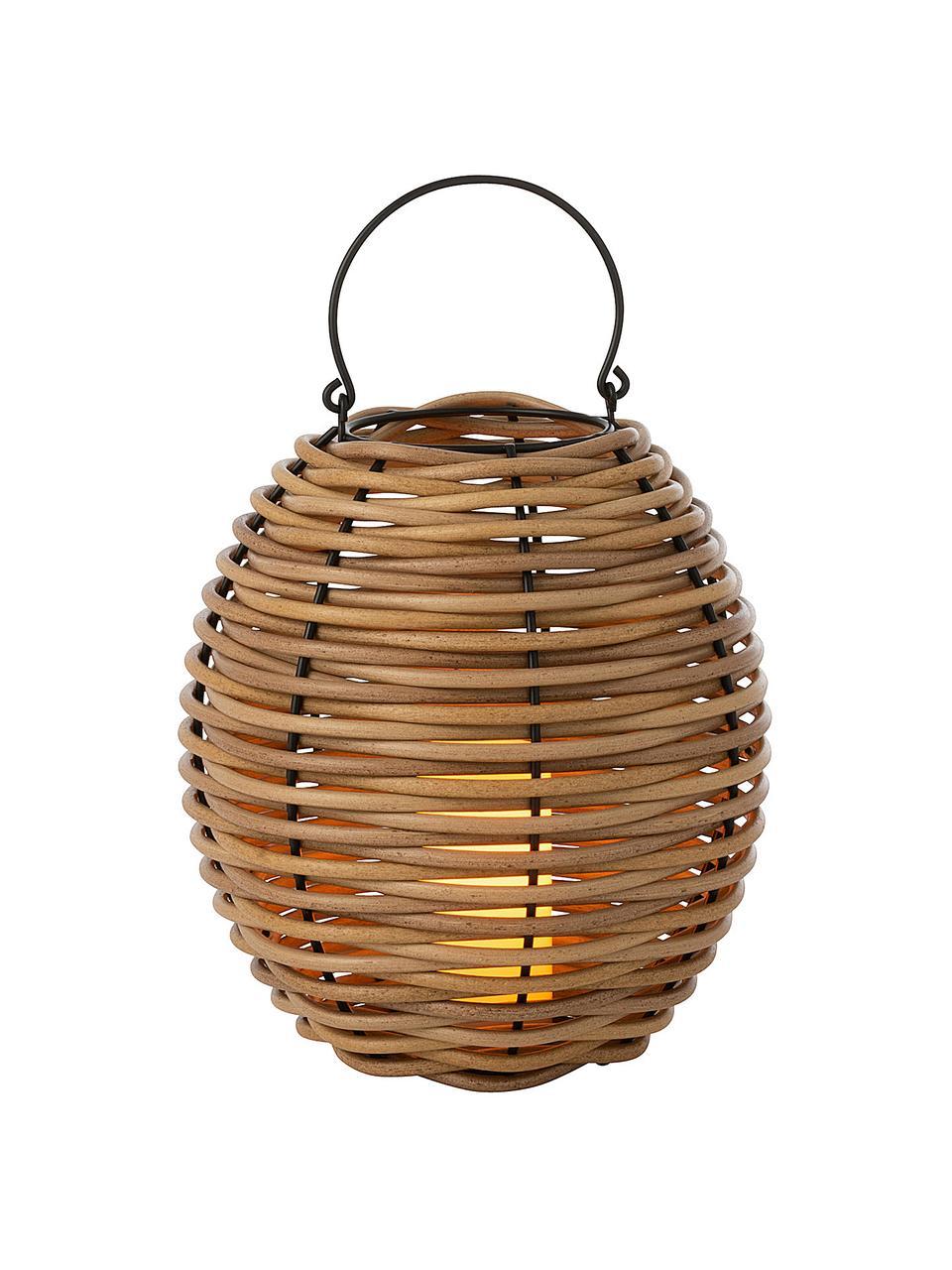 Lantaarn Wovo met LED kaars, Bruin, Ø 32 x H 48 cm
