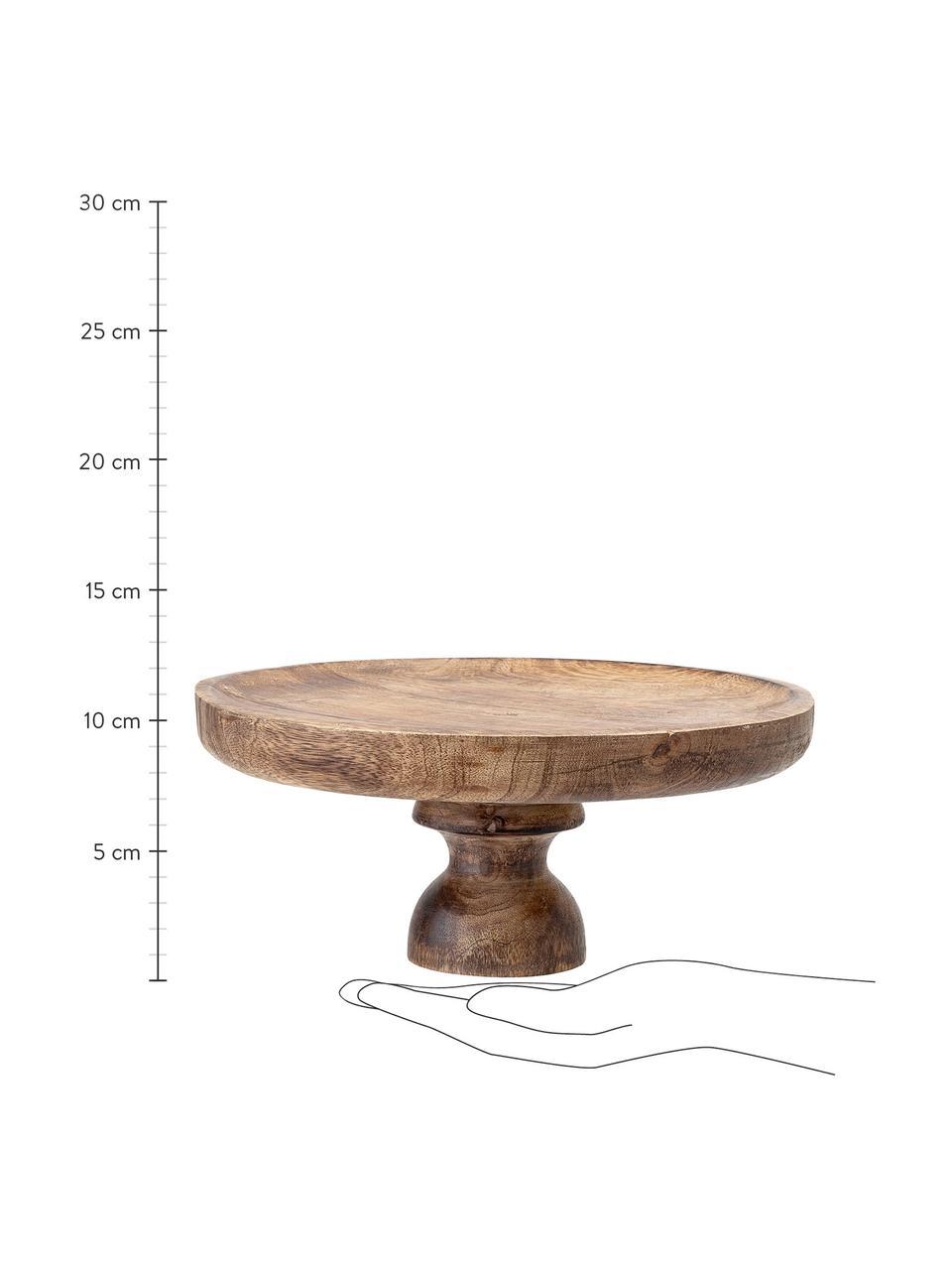 Plat à gâteau bois de manguier Justar, Ø24cm, Brun