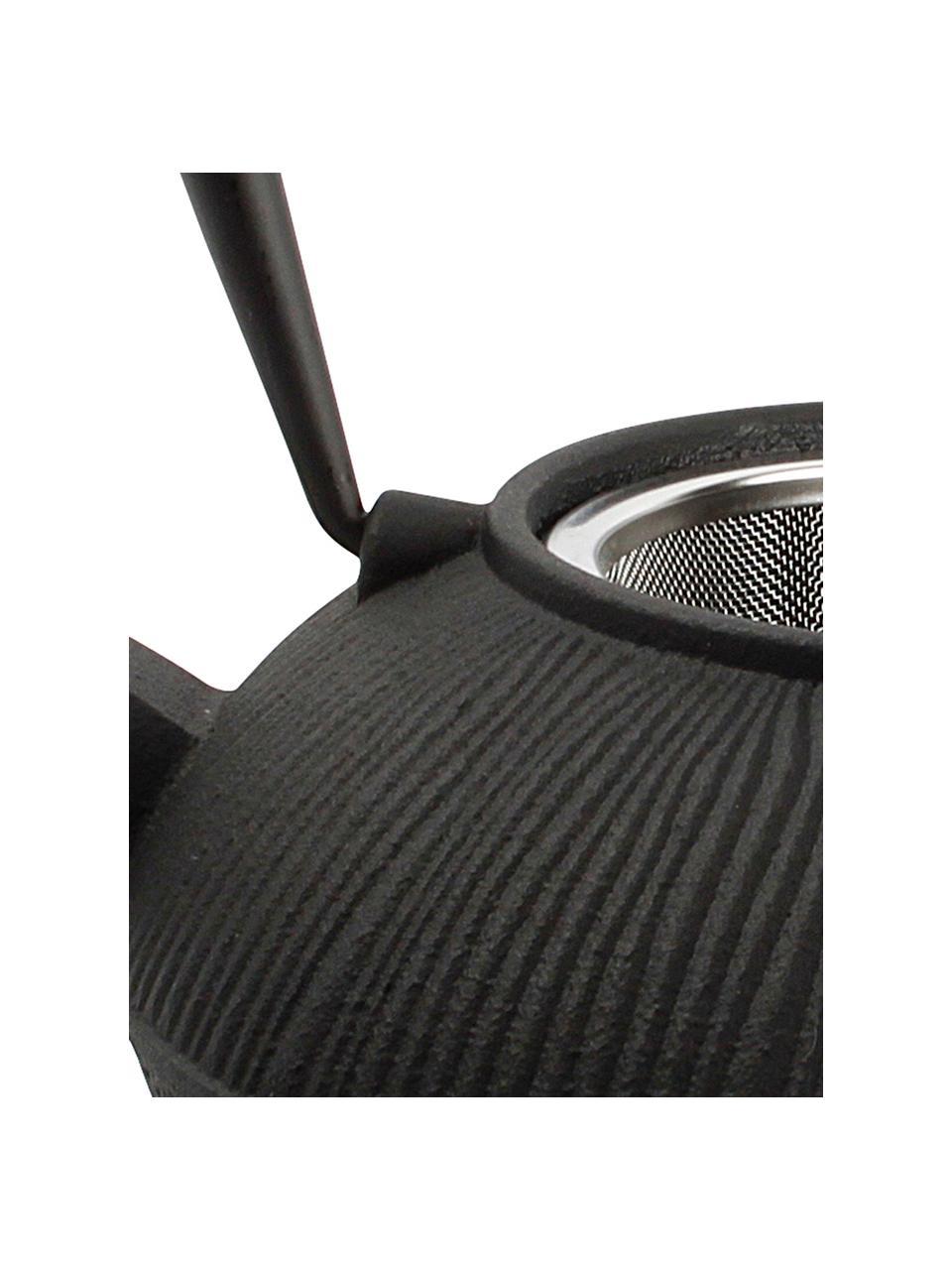 Teekanne Gusina, 800 ml, Kanne: Metall, beschichtet, Sieb: Rostfreier Stahl, Schwarz, 800 ml