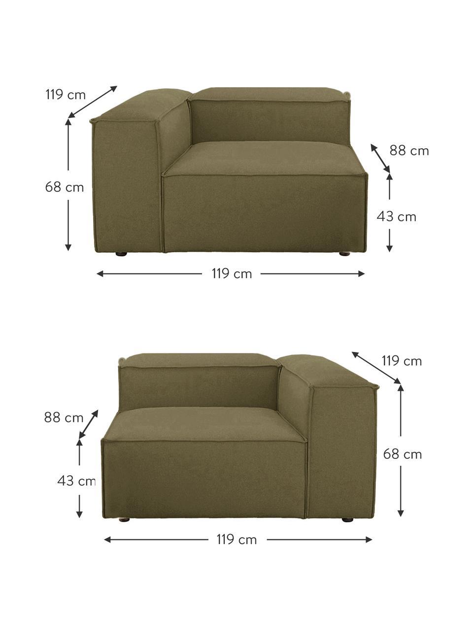 Sofa modułowa Lennon (3-osobowa), Tapicerka: poliester Dzięki tkaninie, Stelaż: lite drewno sosnowe, skle, Nogi: tworzywo sztuczne Nogi zn, Zielony, S 238 x G 119 cm