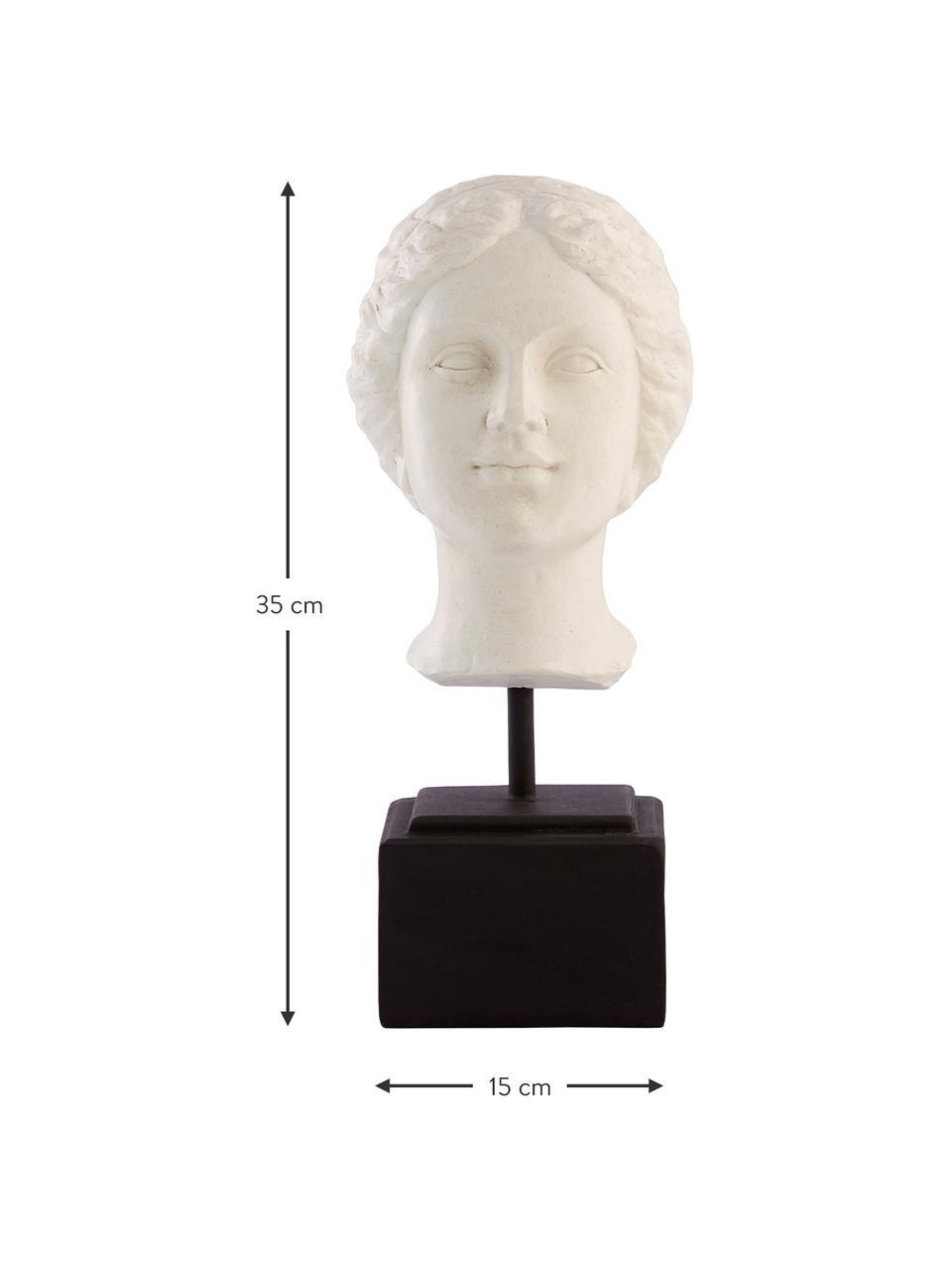Ręcznie wykonana dekoracja Serafina Girl, Tworzywo sztuczne, Biały, czarny, S 13 x W 35 cm