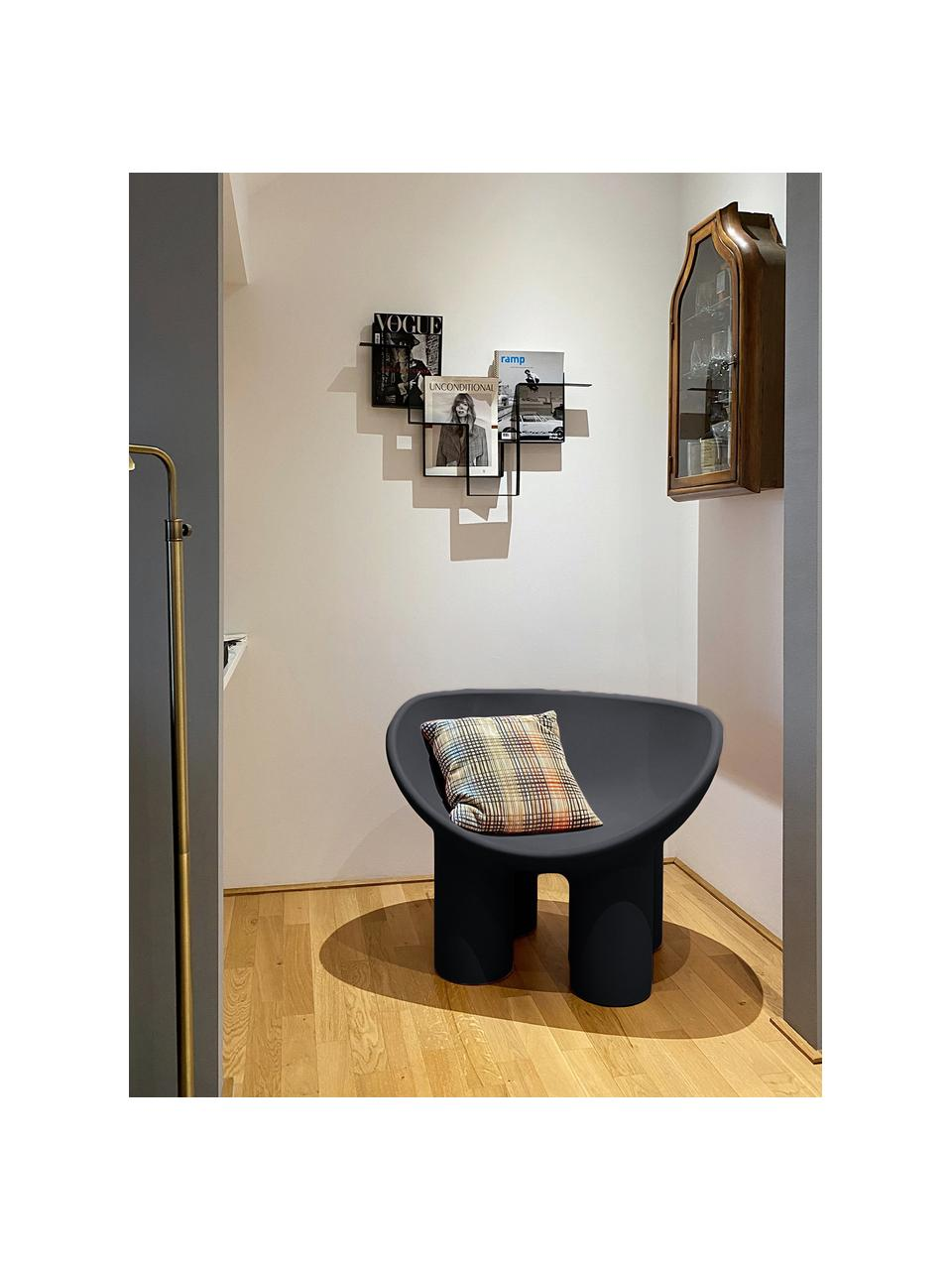 Designer Sessel Roly Poly in Anthrazit, Polyethylen, im Rotationsgussverfahren hergestellt, Anthrazit, B 84 x T 57 cm