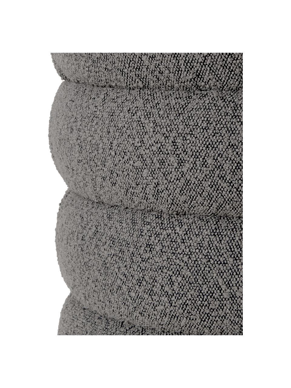 Panca imbottita in tessuto bouclé grigio Alto, Rivestimento: 100% poliestere (pellicci, Struttura: legno di pino massiccio, , Bouclé grigio, Larg. 110 x Alt. 47 cm