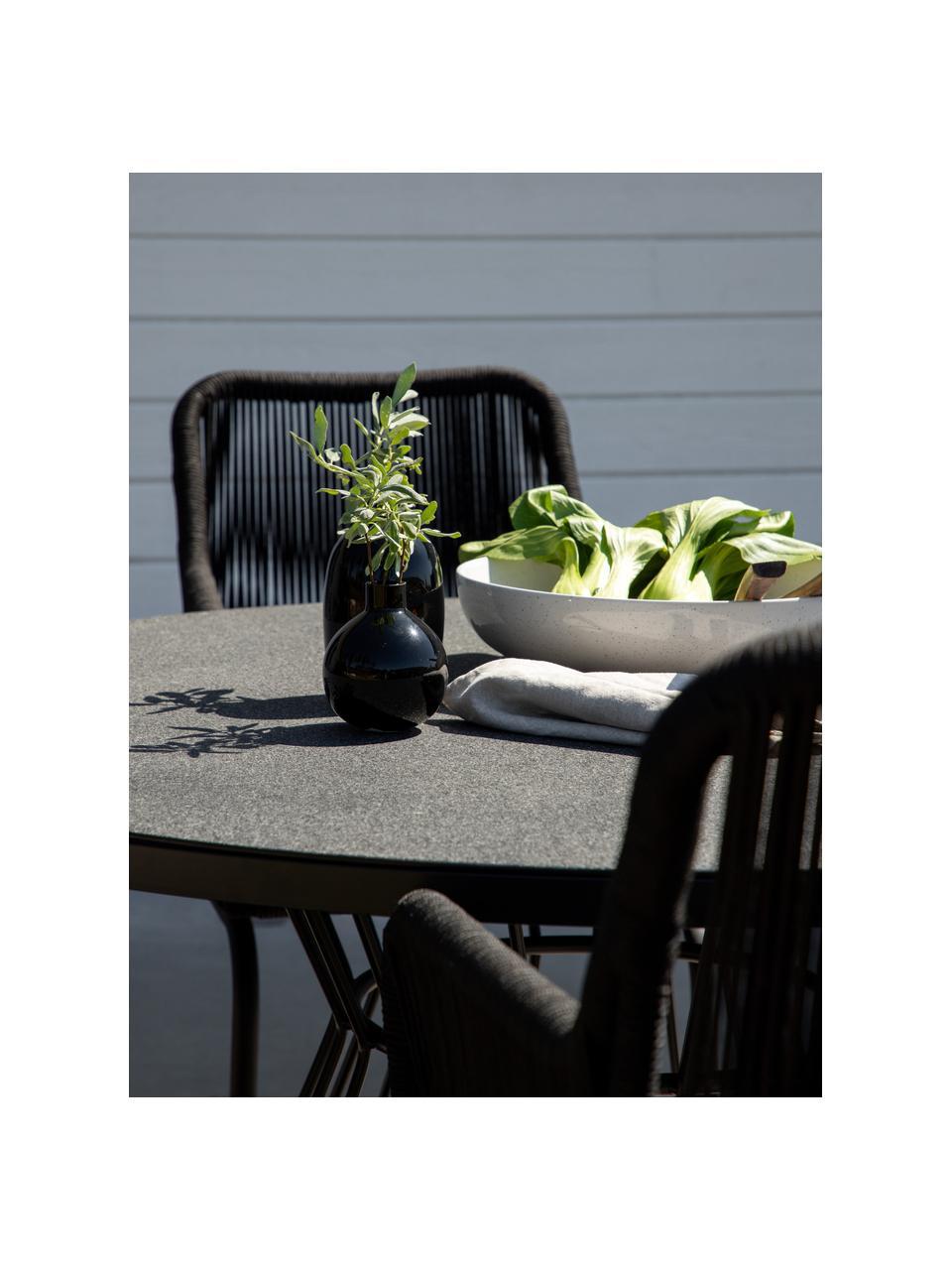 Table de jardin ronde Tropea, Noir