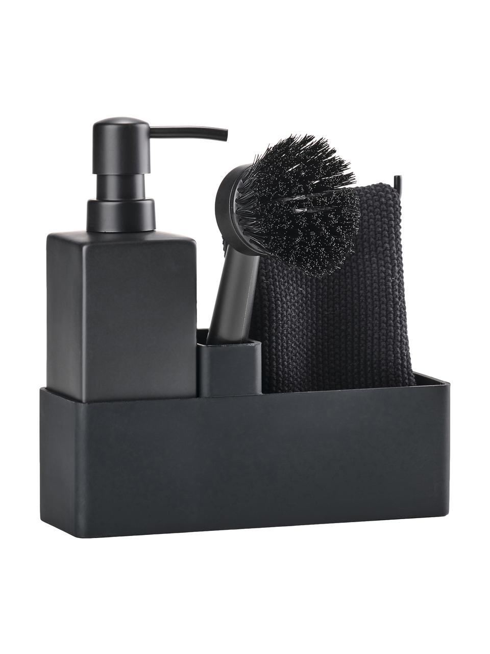 Accessoires vaisselle Parta, 3élém., Noir