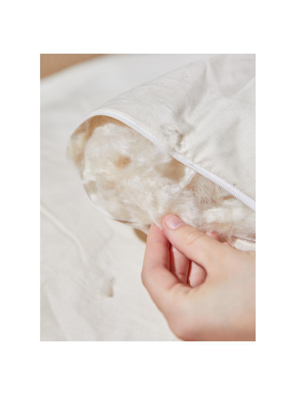 Veganes Kopfkissen Comfort mit Kapokfaser und Baumwolle, weich, Bezug: 100% Baumwolle, Weiß, 40 x 80 cm