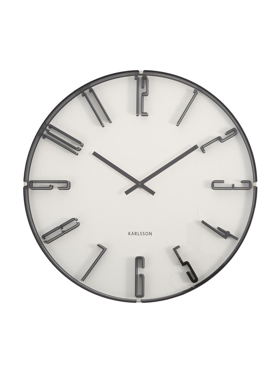 Zegar ścienny Sentient, Tworzywo sztuczne, Biały, czarny, Ø 40 cm