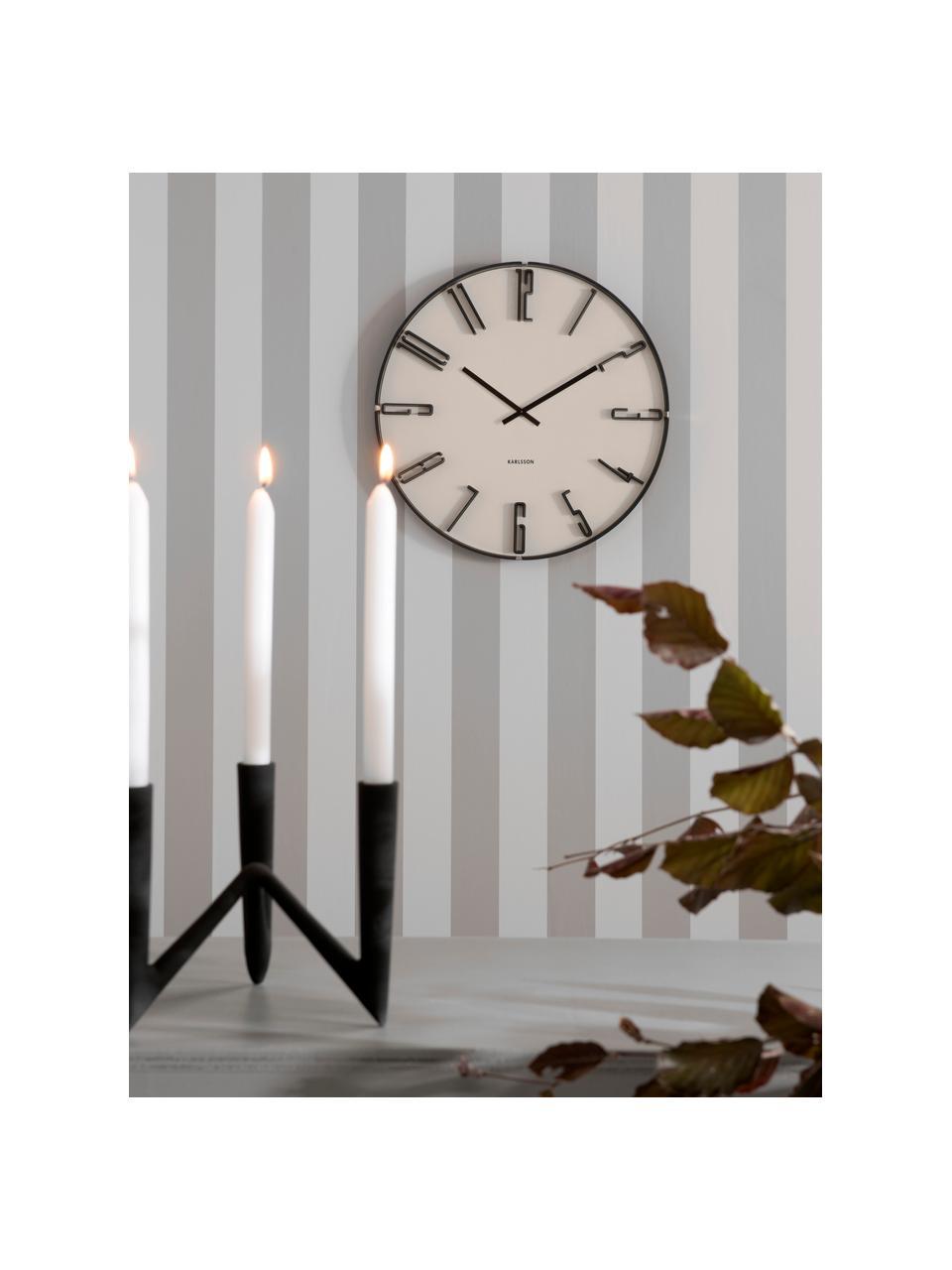 Wanduhr Sentient, Kunststoff, Weiß, Schwarz, Ø 40 cm