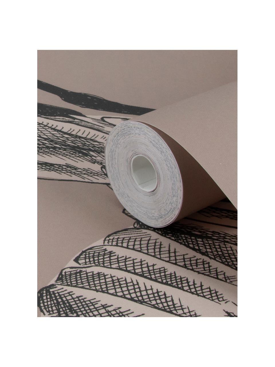 Fototapete Graphic Nature, Vlies, Rosa, Beige, Grau, 300 x 280 cm