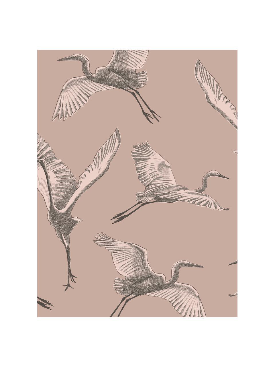 Adesivo murale Graphic Nature, Tessuto non tessuto, Rosa, beige, grigio, Larg. 300 x Alt. 280 cm