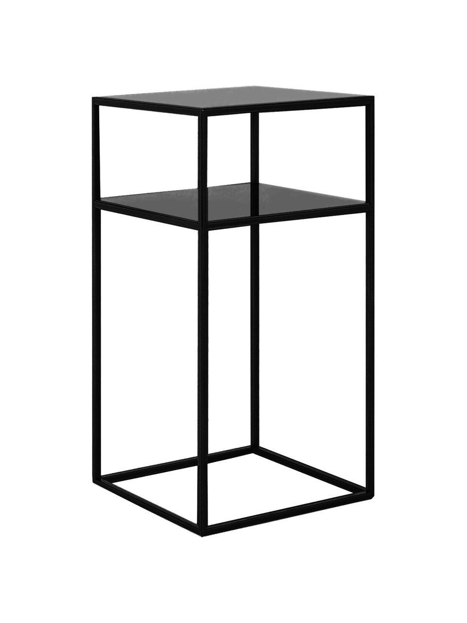 Table d'appoint en métal, noire Tensio, Noir