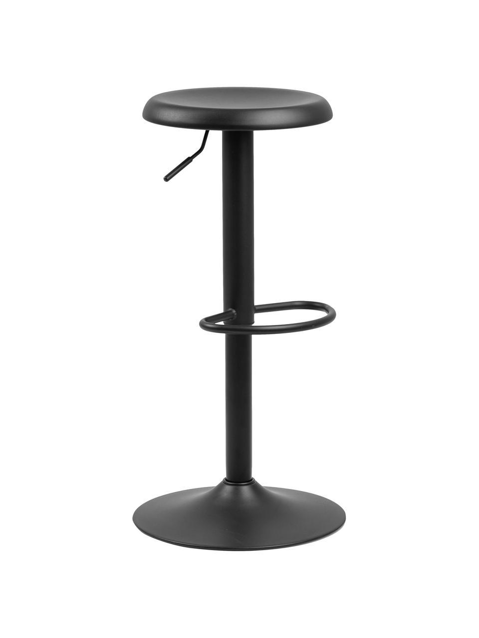 Höhenverstellbarer Barhocker Finch in Schwarz, 2 Stück, Metall, pulverbeschichtet, Schwarz, Ø 40 x H 80 cm