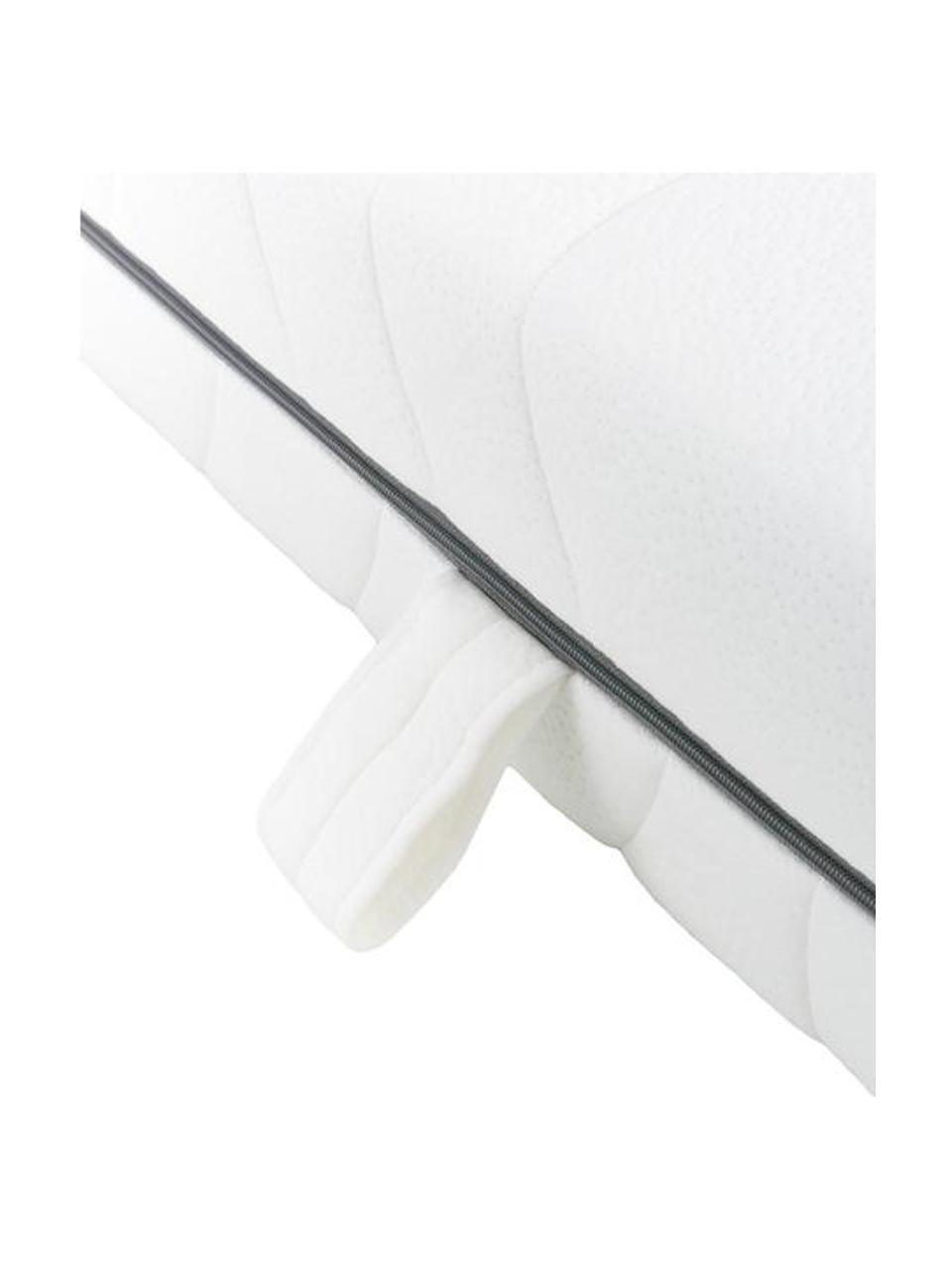 7-Zonen-Kaltschaummatratze Alicja, Bezug: Doppeltuch 65% Polyester,, Weiß, 90 x 200 cm