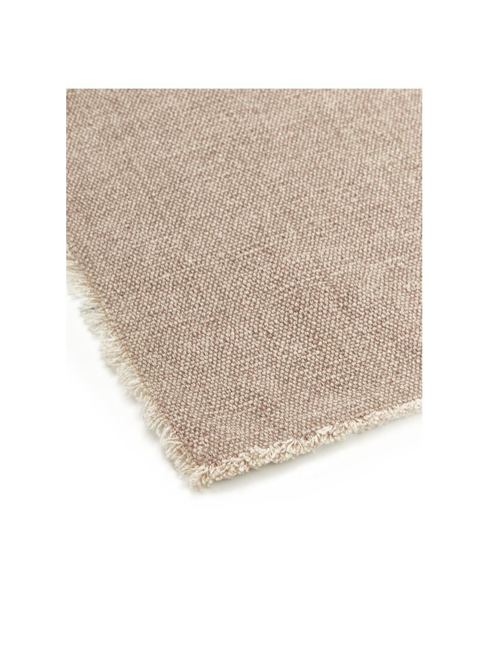 Podkładka z bawełny Edge, 6 szt., 85% bawełna, 15% włókna mieszane, Beżowy, S 35 x D 48 cm
