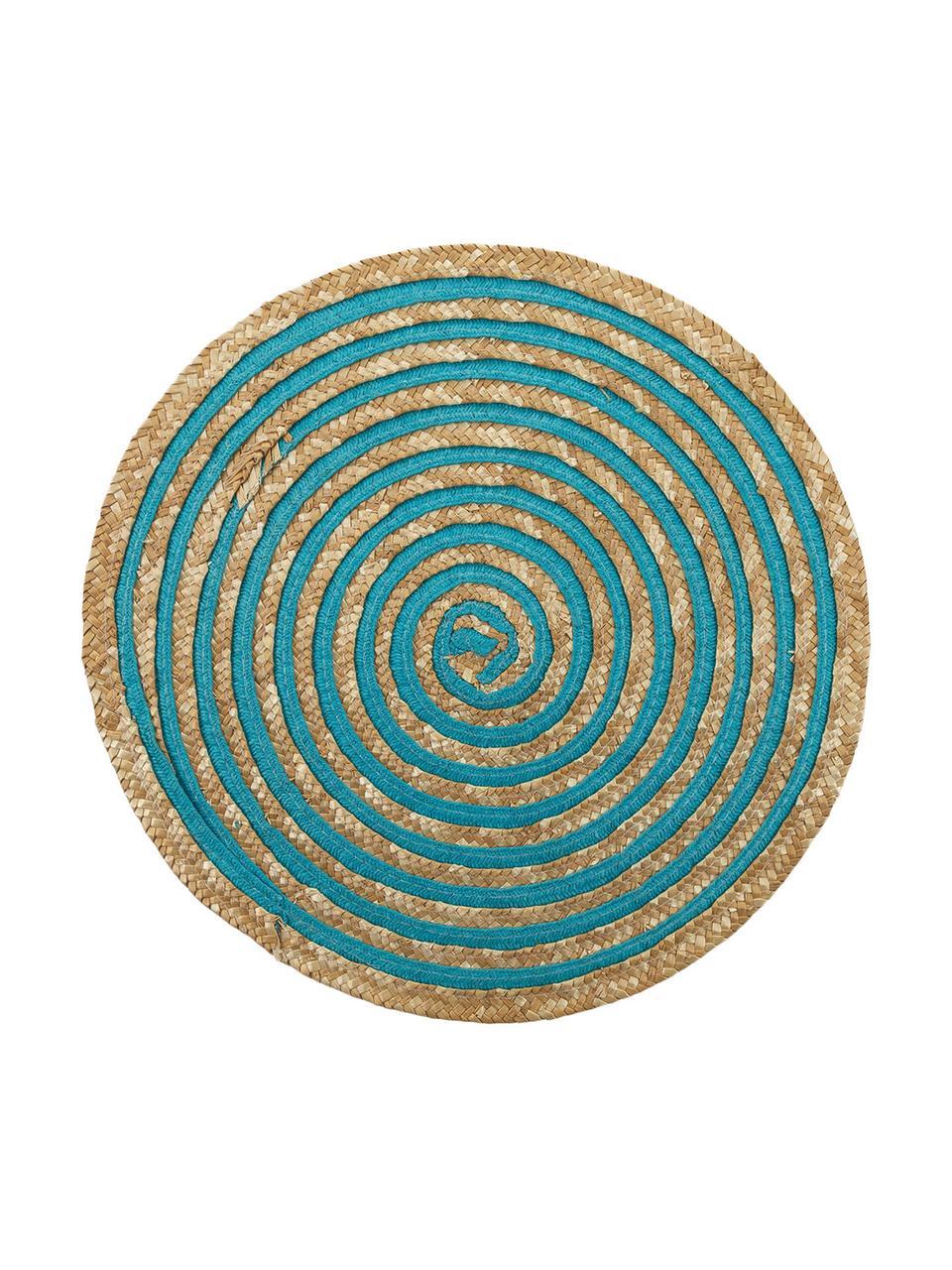 Ronde placemats Baita, 6 stuks, Bastvezels, Beige, multicolour, Ø 39 cm